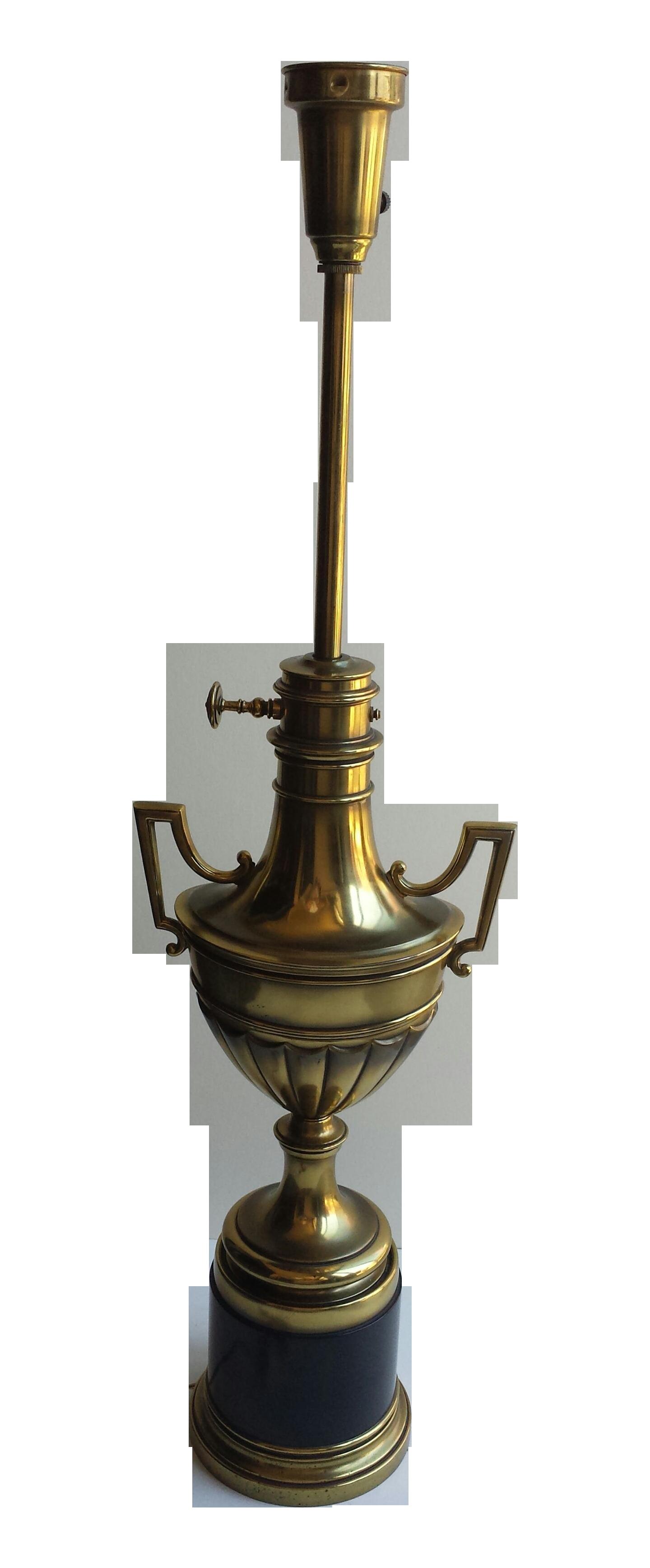 Stiffel brass lamps lamp design ideas stiffel torchiere lamp brass hunter green trophy chairish aloadofball Images