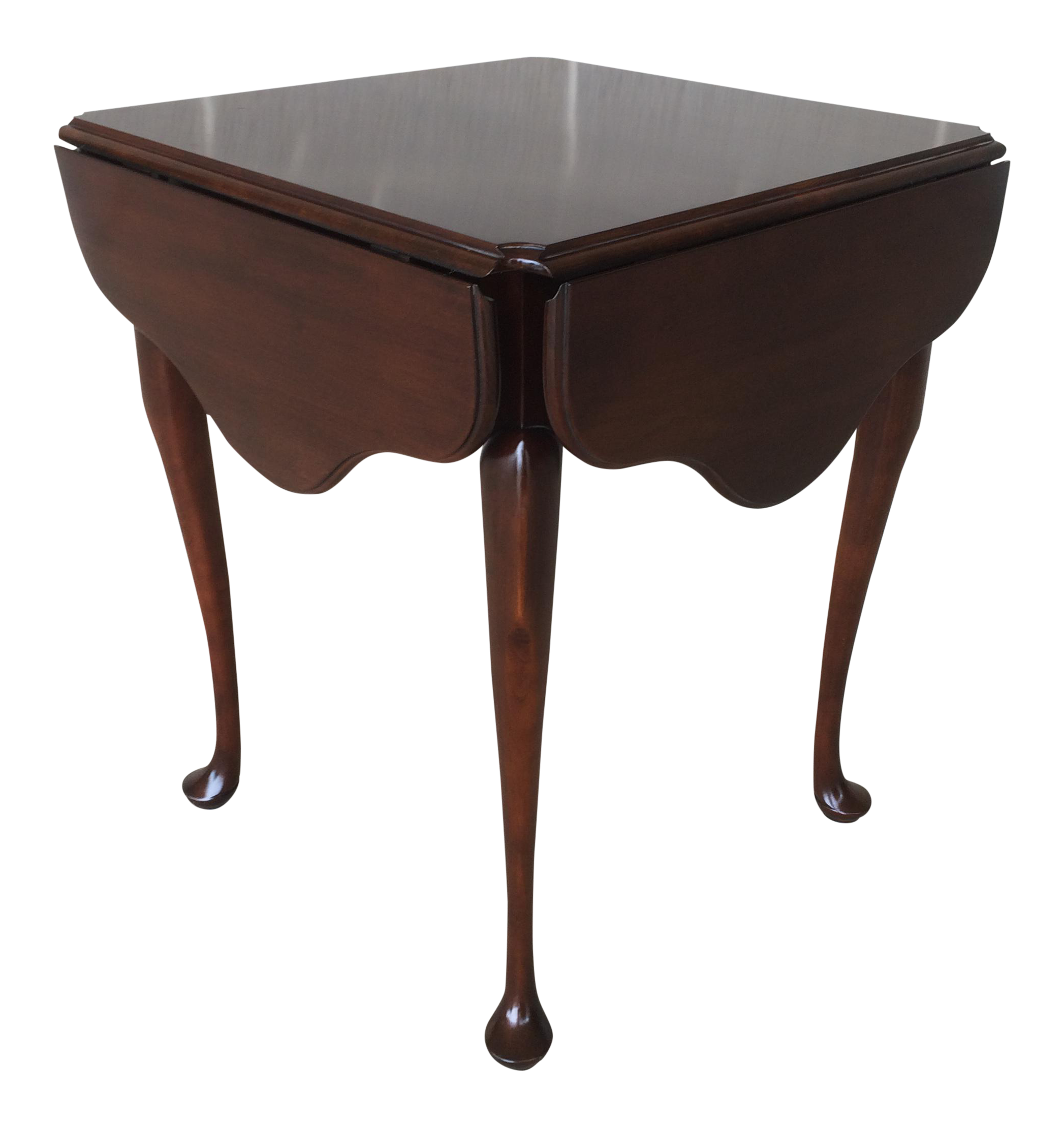 Statton Old Towne Queen Anne Style Solid Cherry Drop Leaf Table