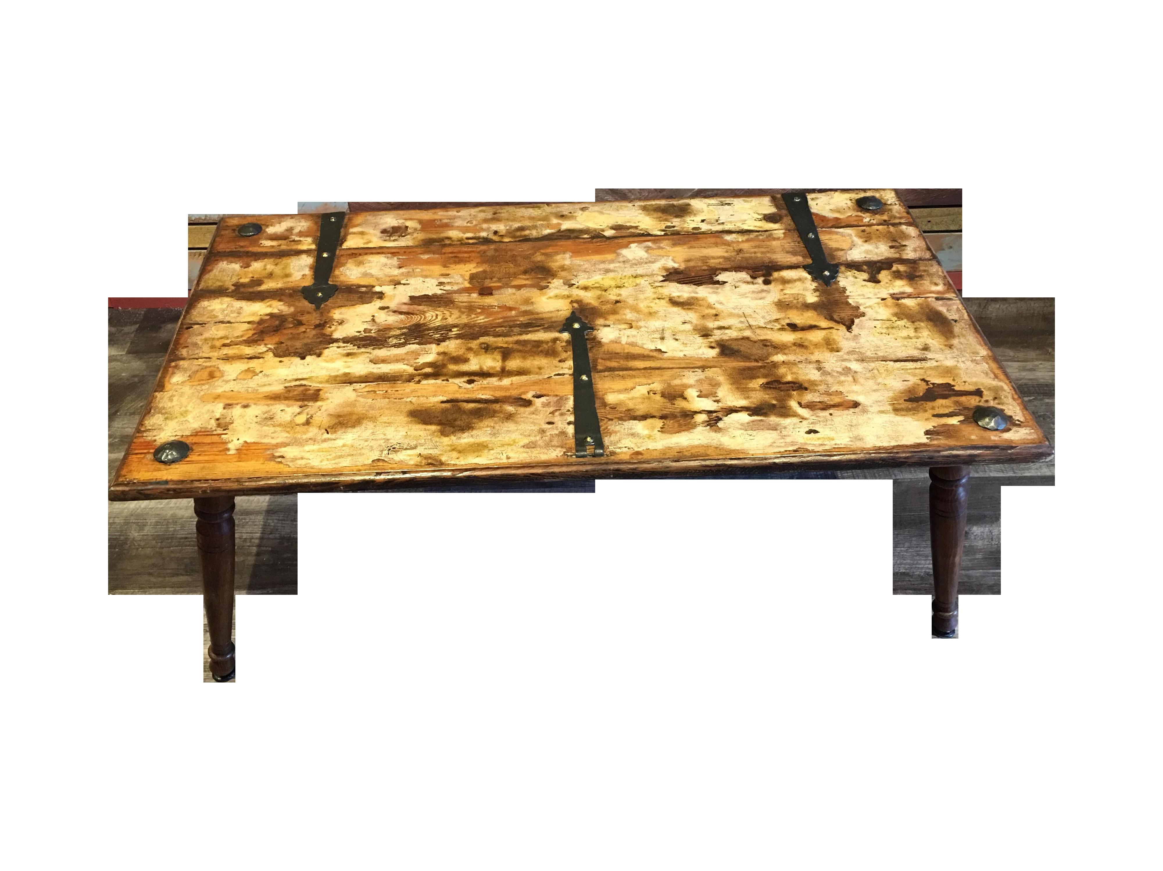 steampunk coffee table   chairish
