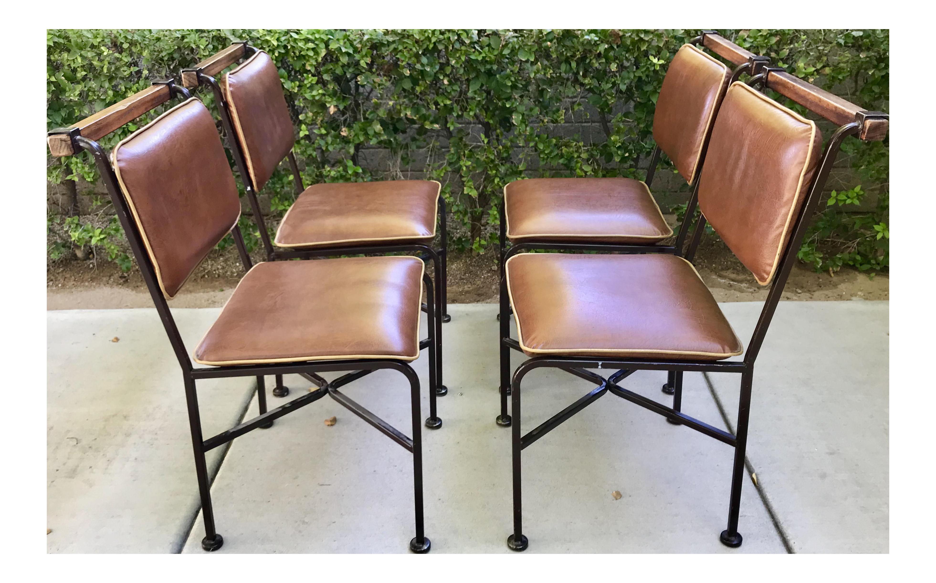 Rustic Modern Cleo Baldon Dining Chairs Set Of 4 Chairish