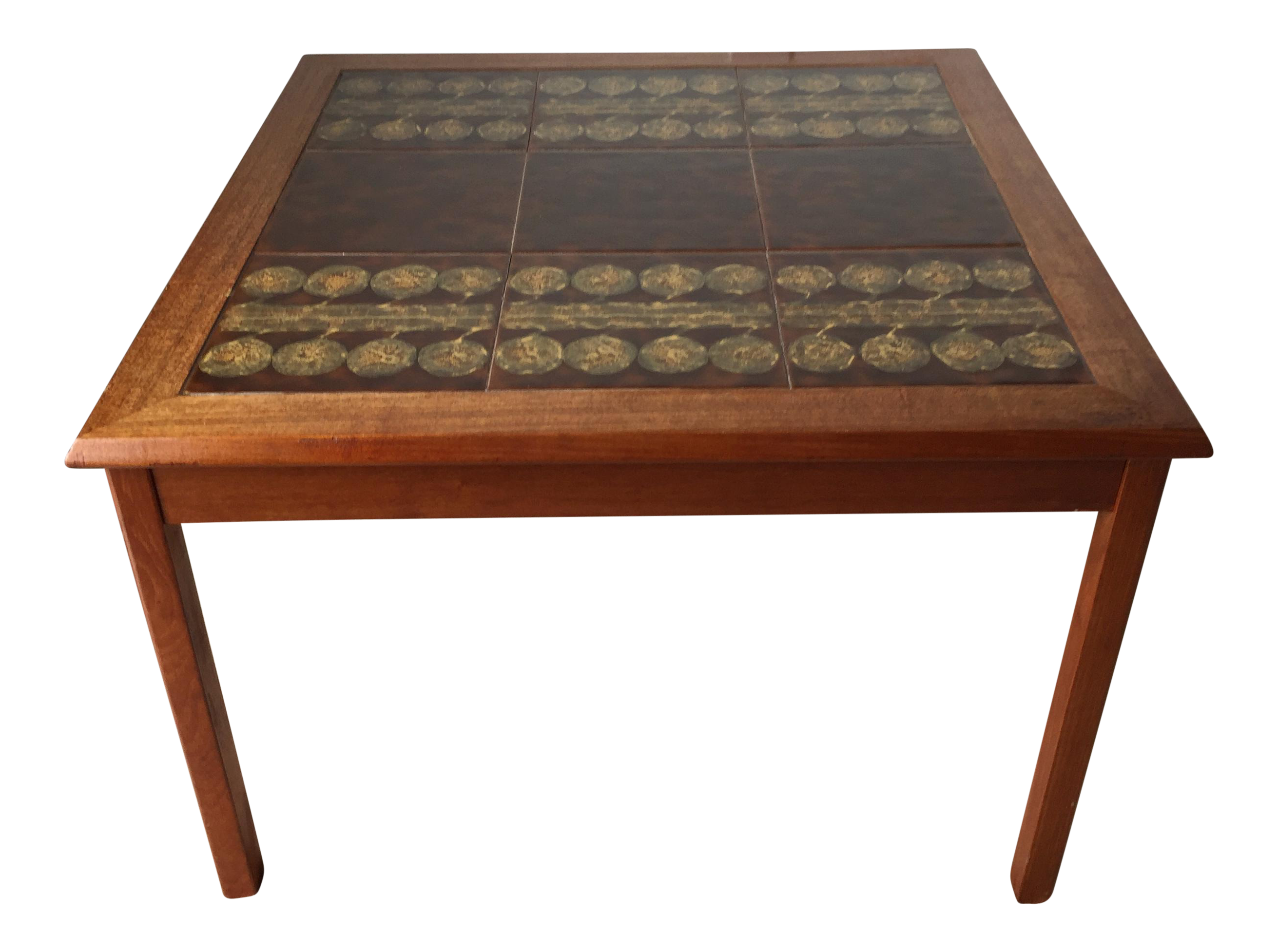 Outdoor Tile Table Top Danish Modern Tile Table Mobelfabrikken Toften Chairish