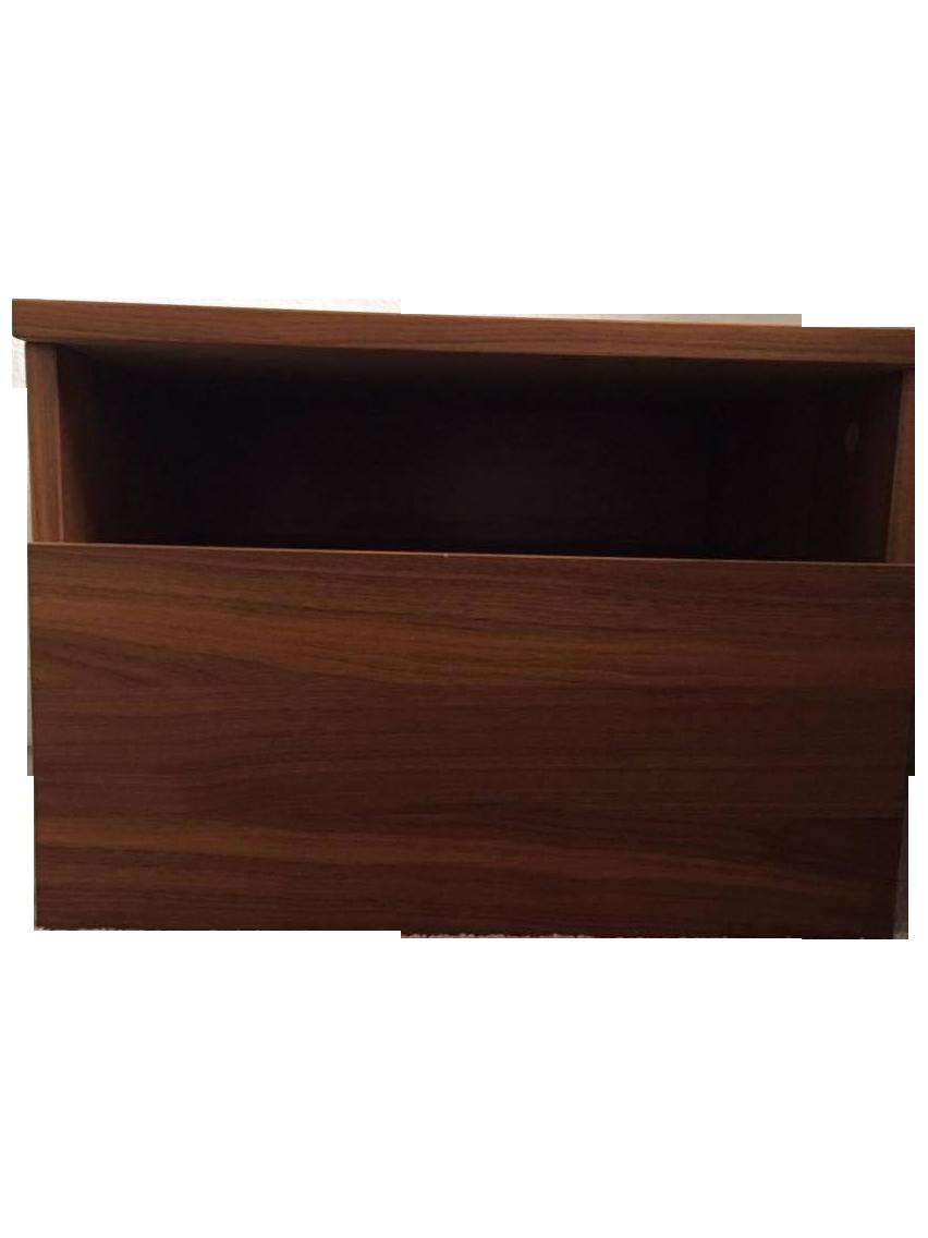 boconcept walnut veneer nightstand chairish. Black Bedroom Furniture Sets. Home Design Ideas