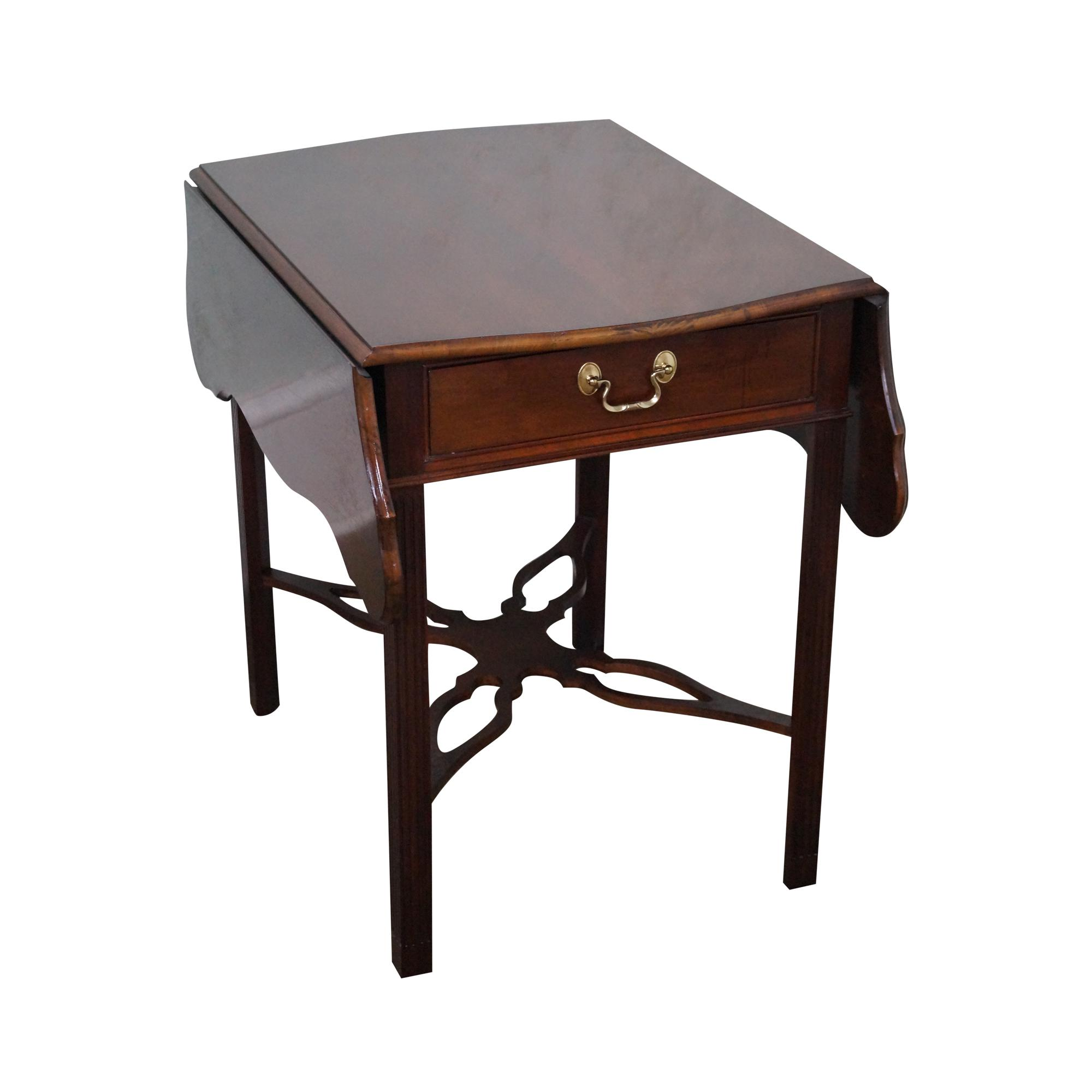 Councill Craftsman Mahogany Chippendale Drop Leaf Pembroke Table   Chairish