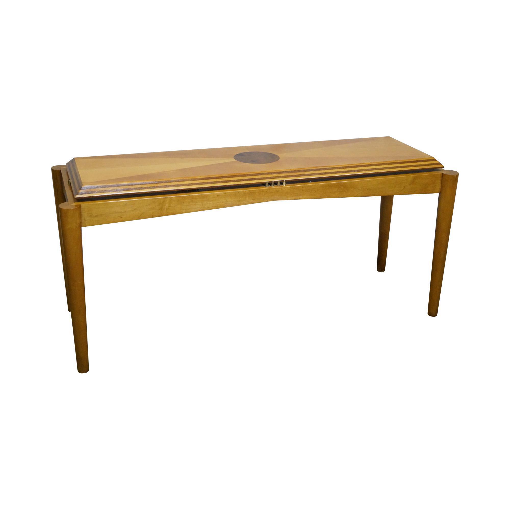 Henredon Satinwood Inlaid Console Table Chairish