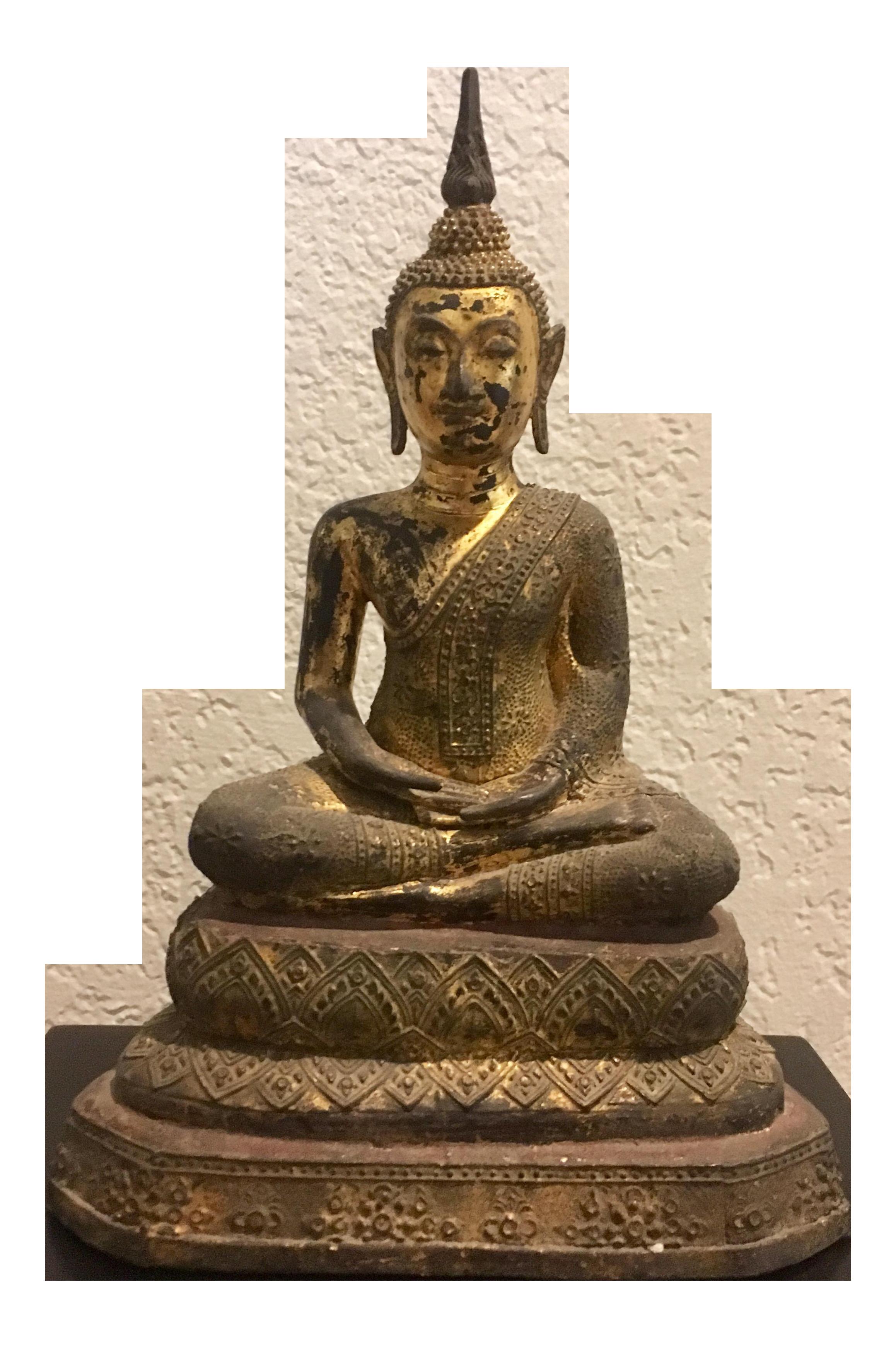 Antique Thai Buddha Statue Chairish