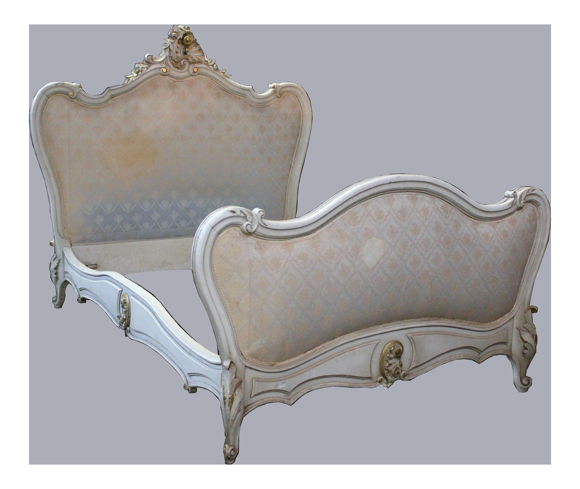 Antique French Provincial Rococo Headboard Amp Footboard