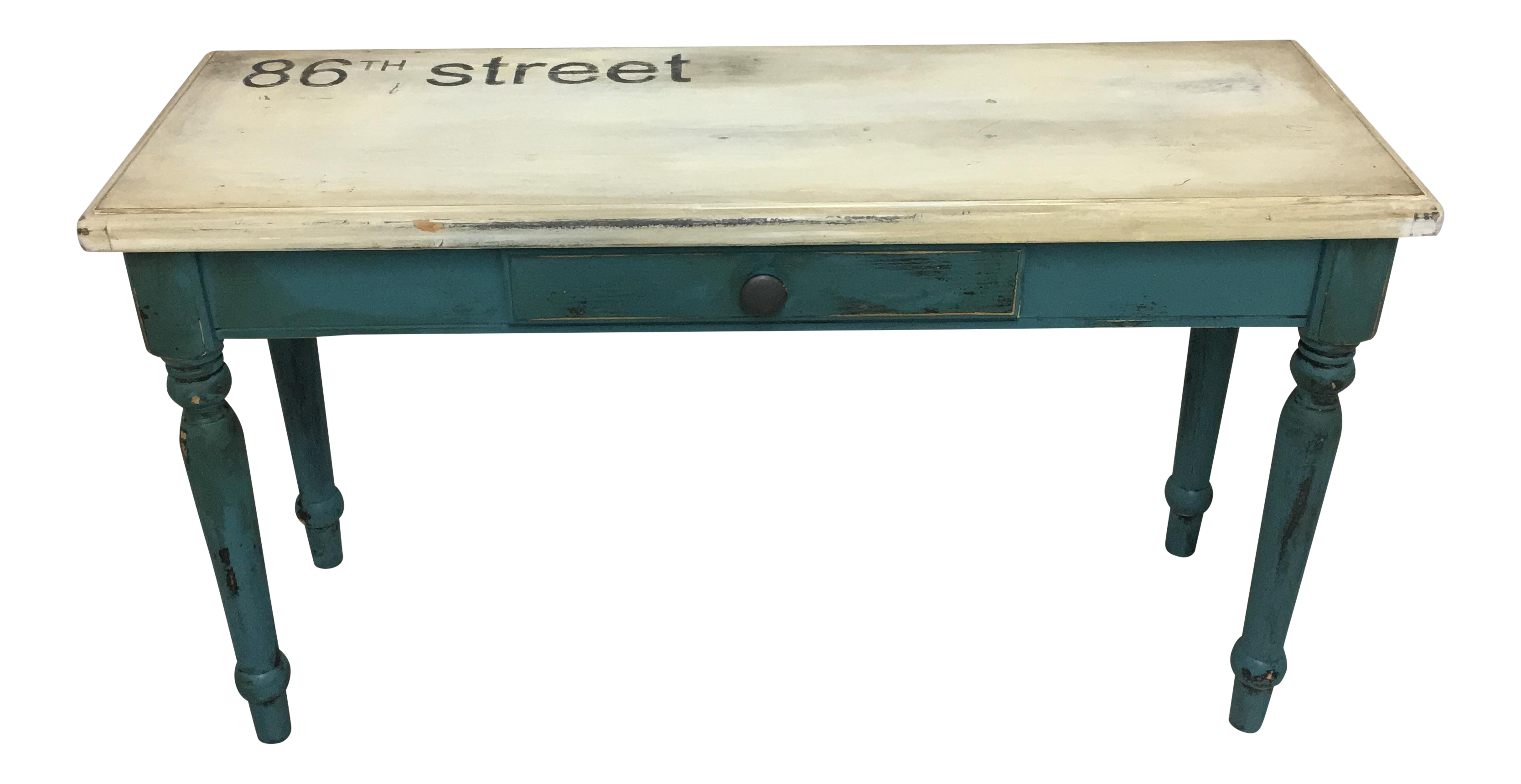 Vintage painted sofa table chairish geotapseo Image collections