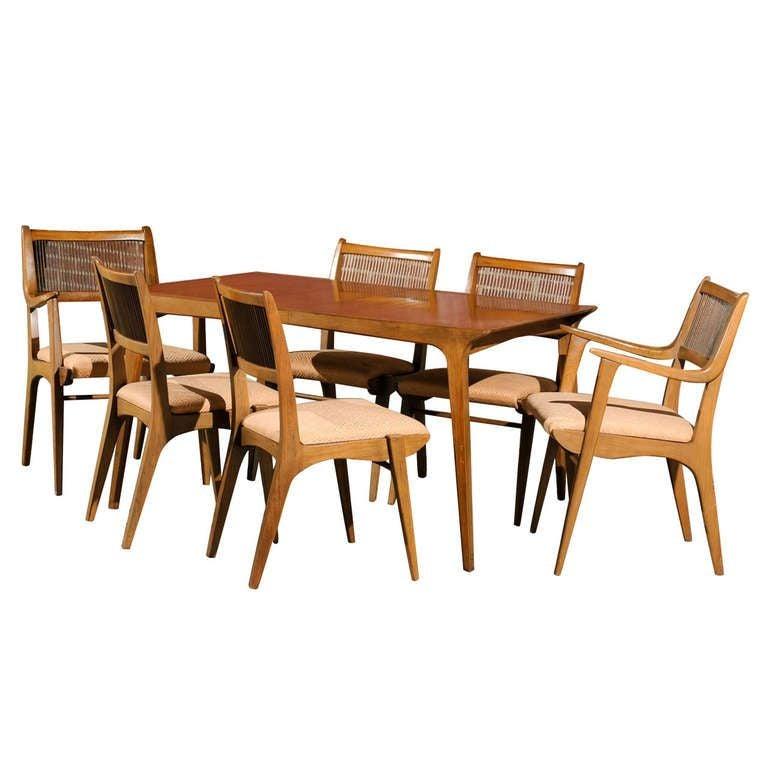 Modernist Dining Set By Van Koert For Drexel