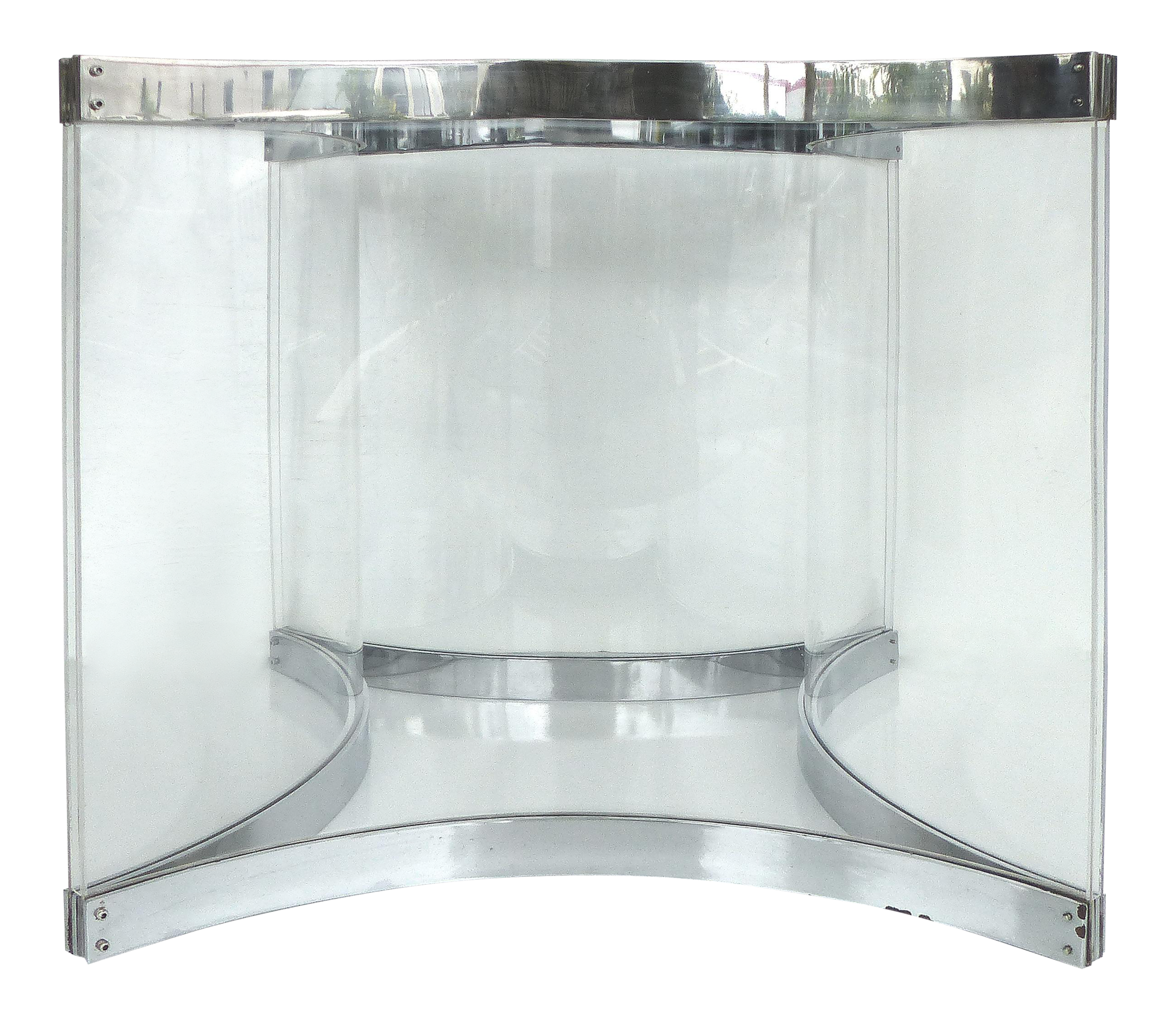 alessandro albrizzi chrome lucite dining table base chairish