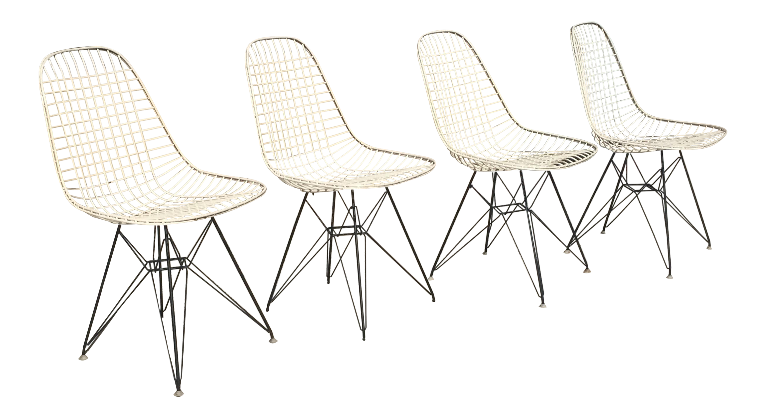 Eames dkr 2 for herman miller wire chairs set of 4 for Chaise eames dkr