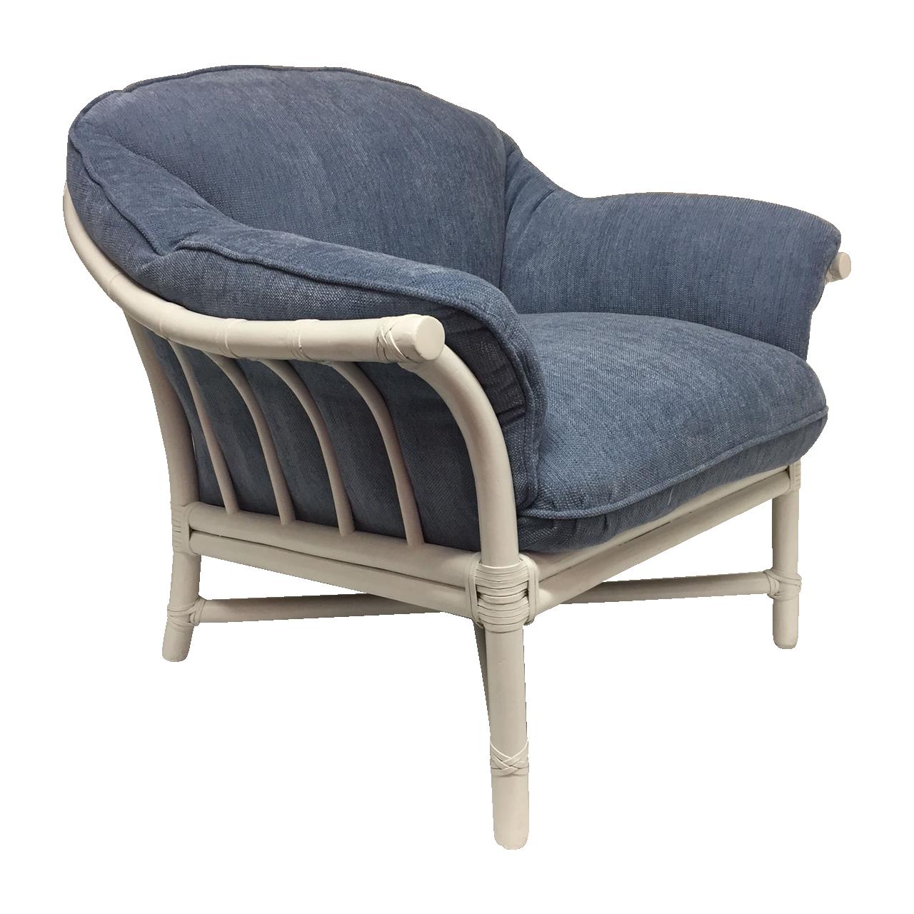 Mcguire Furniture Rattan Bamboo Lounge Chair Chairish