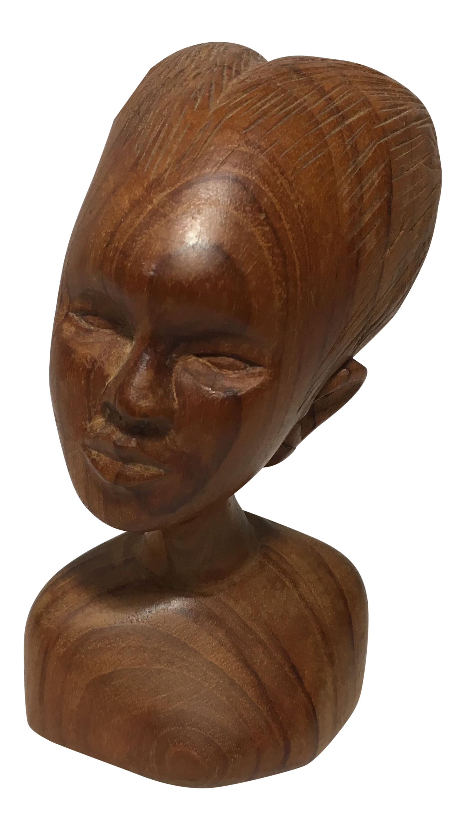 Hand carved african bust chairish