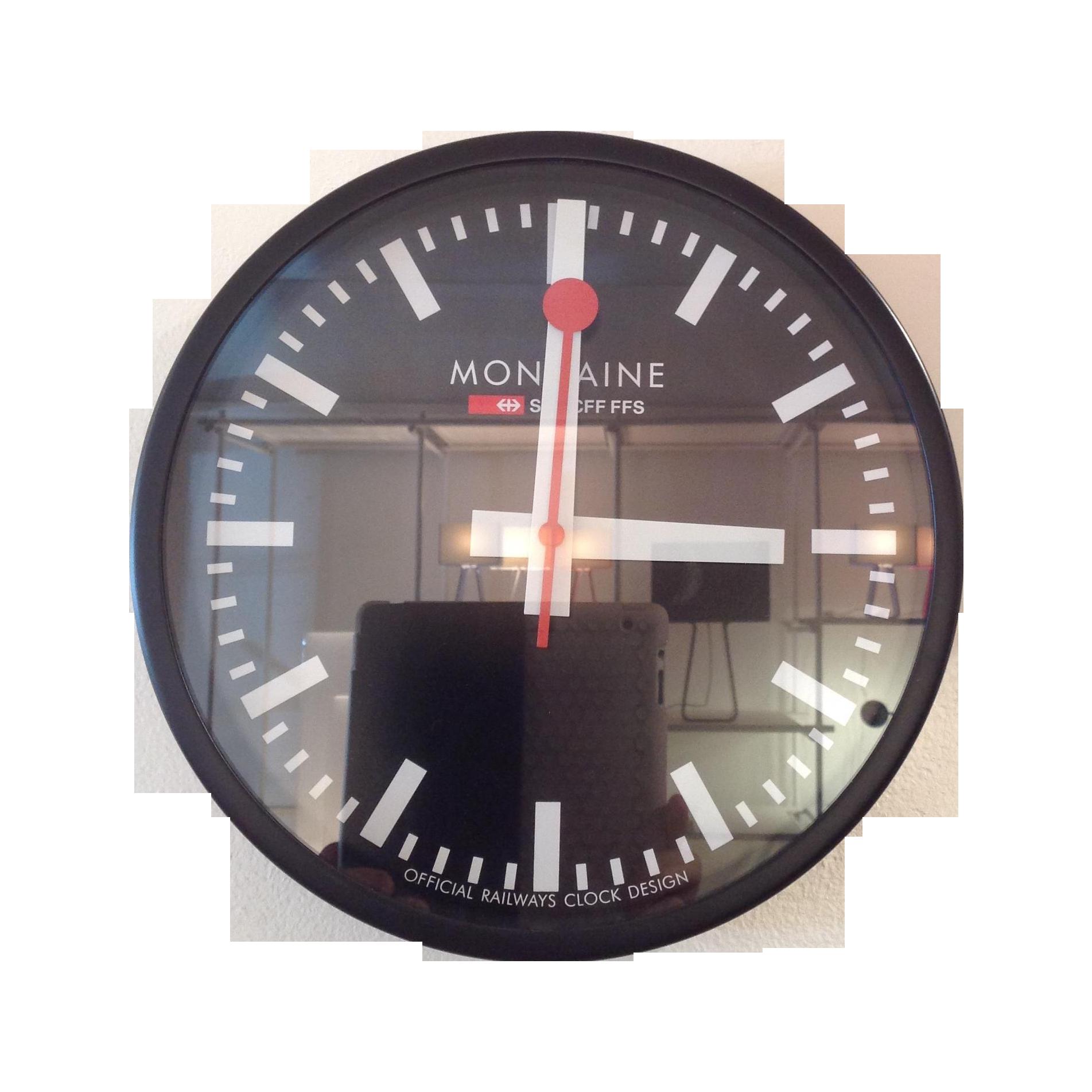 Swiss Railway Wall Clock Chairish
