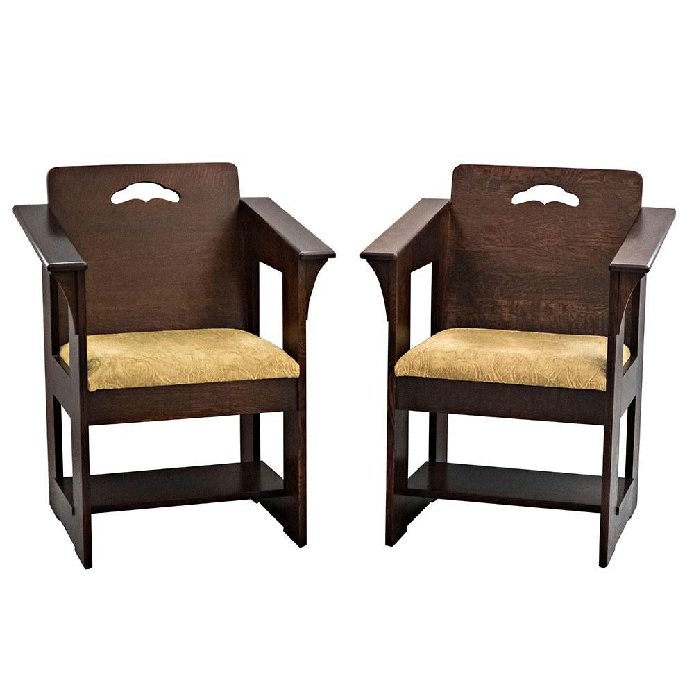 Stickley Limbert Cafe Chairs - A Pair  Chairish