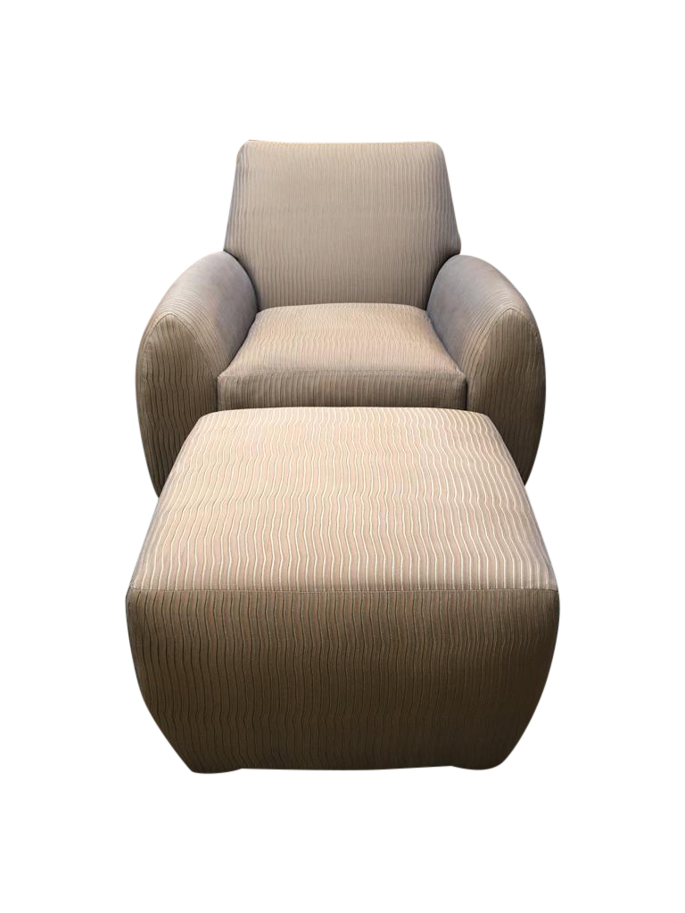 Dakota Jackson Ke Zu Chair Amp Ottoman Set Chairish