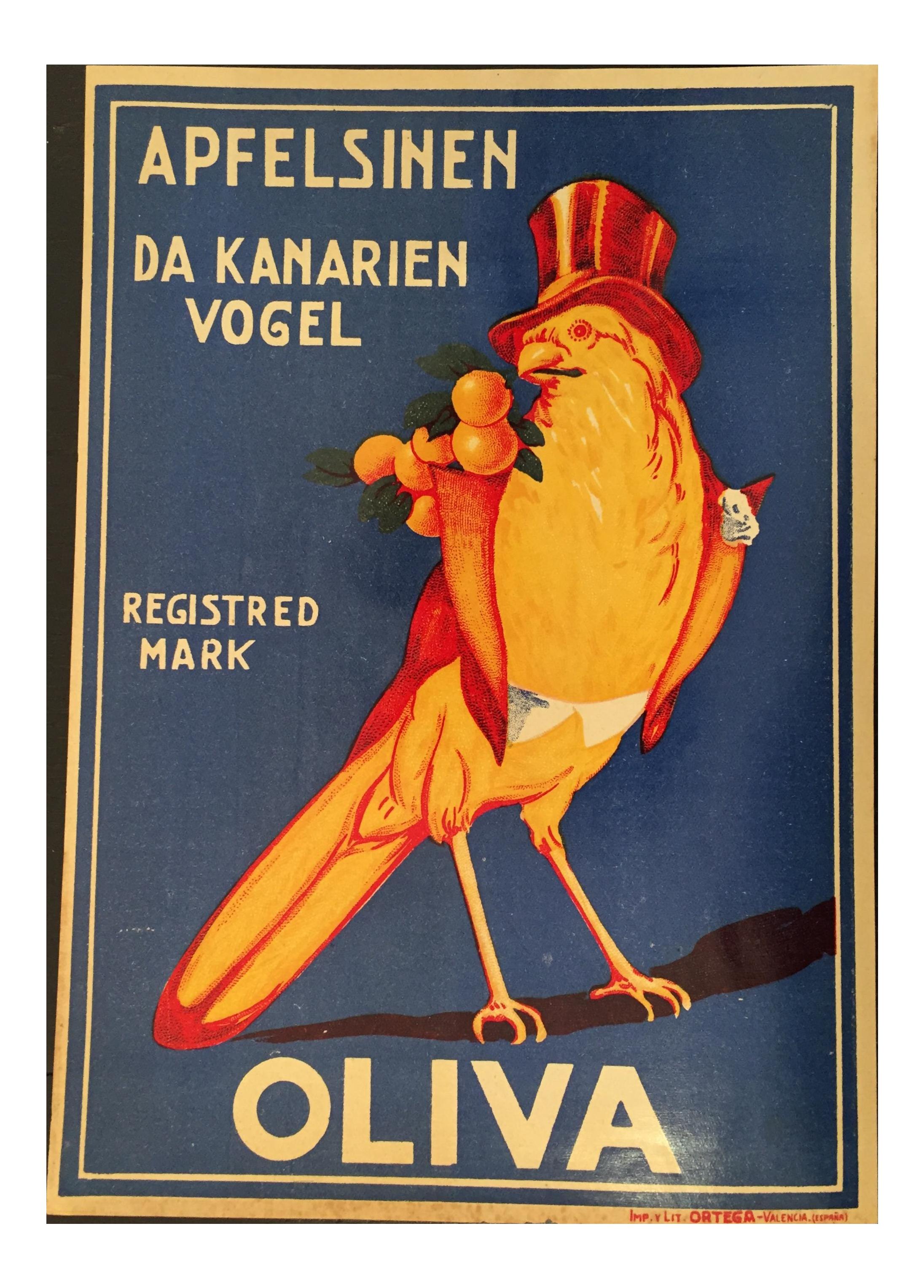 1920s Spanish Bungalow Plans: Vintage 1920s Spanish Art Deco Orange Crate Label