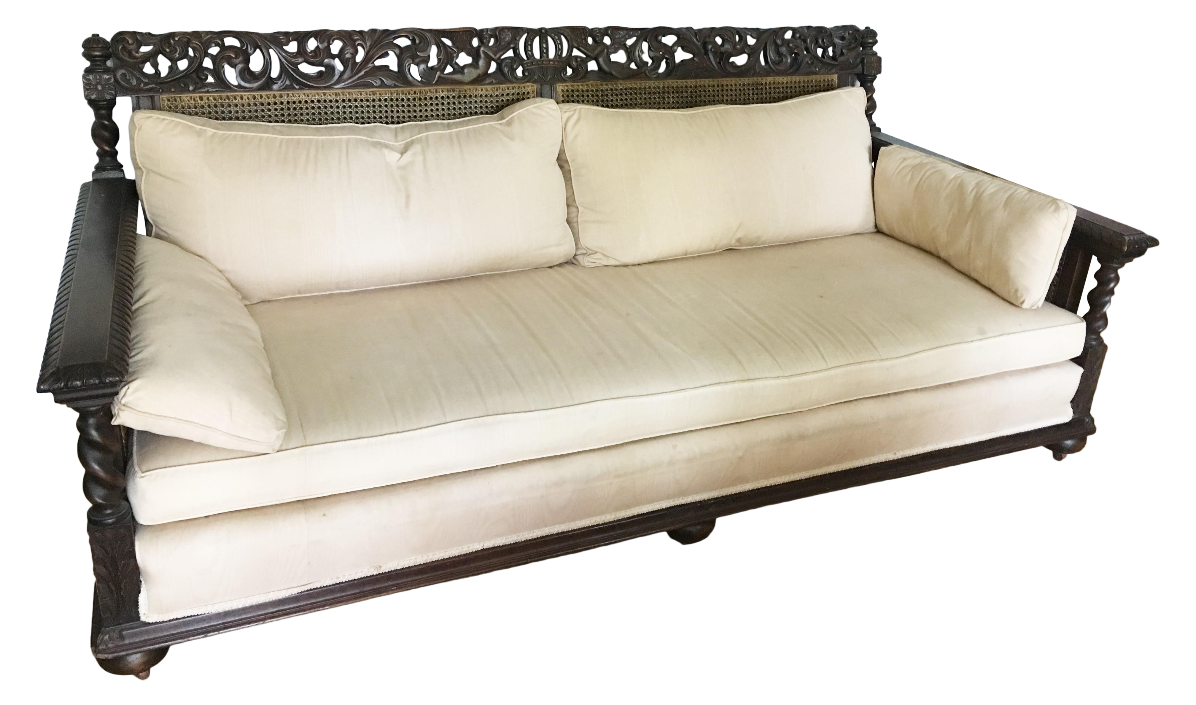 british colonial sofa thesofa. Black Bedroom Furniture Sets. Home Design Ideas