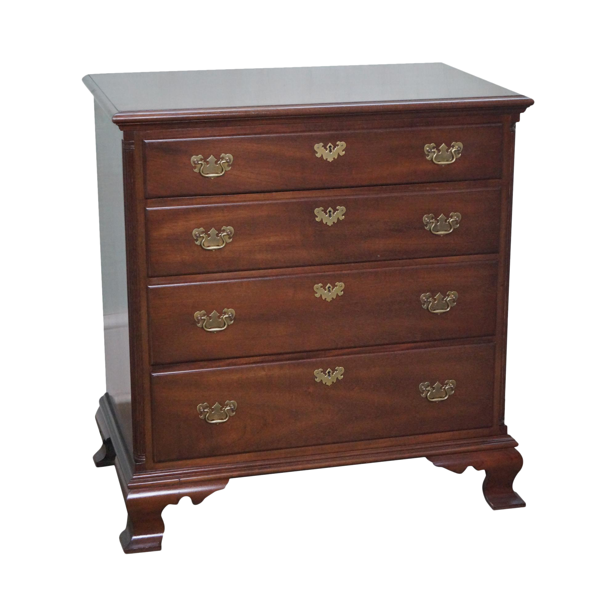 Kittinger Old Dominion Mahogany Chippendale Style Chest of Drawers