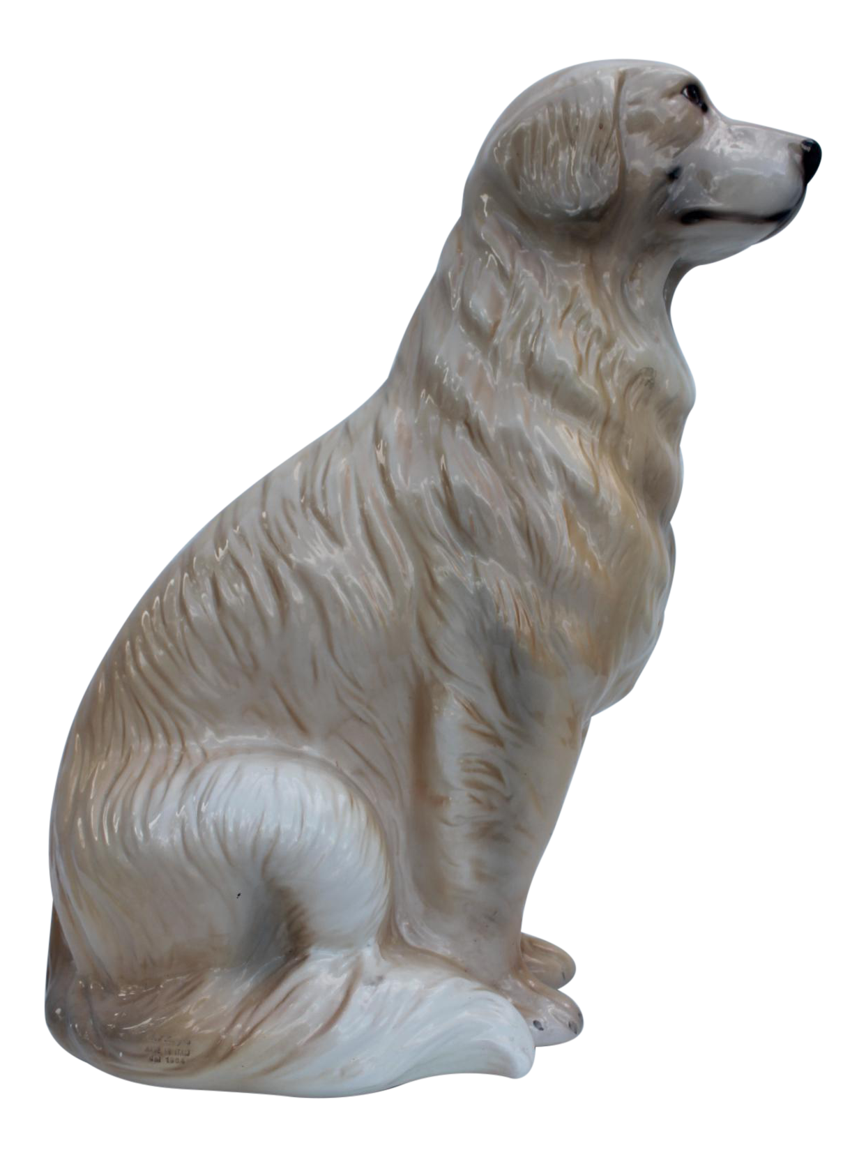 Italian Ceramic Dog Statue Chairish