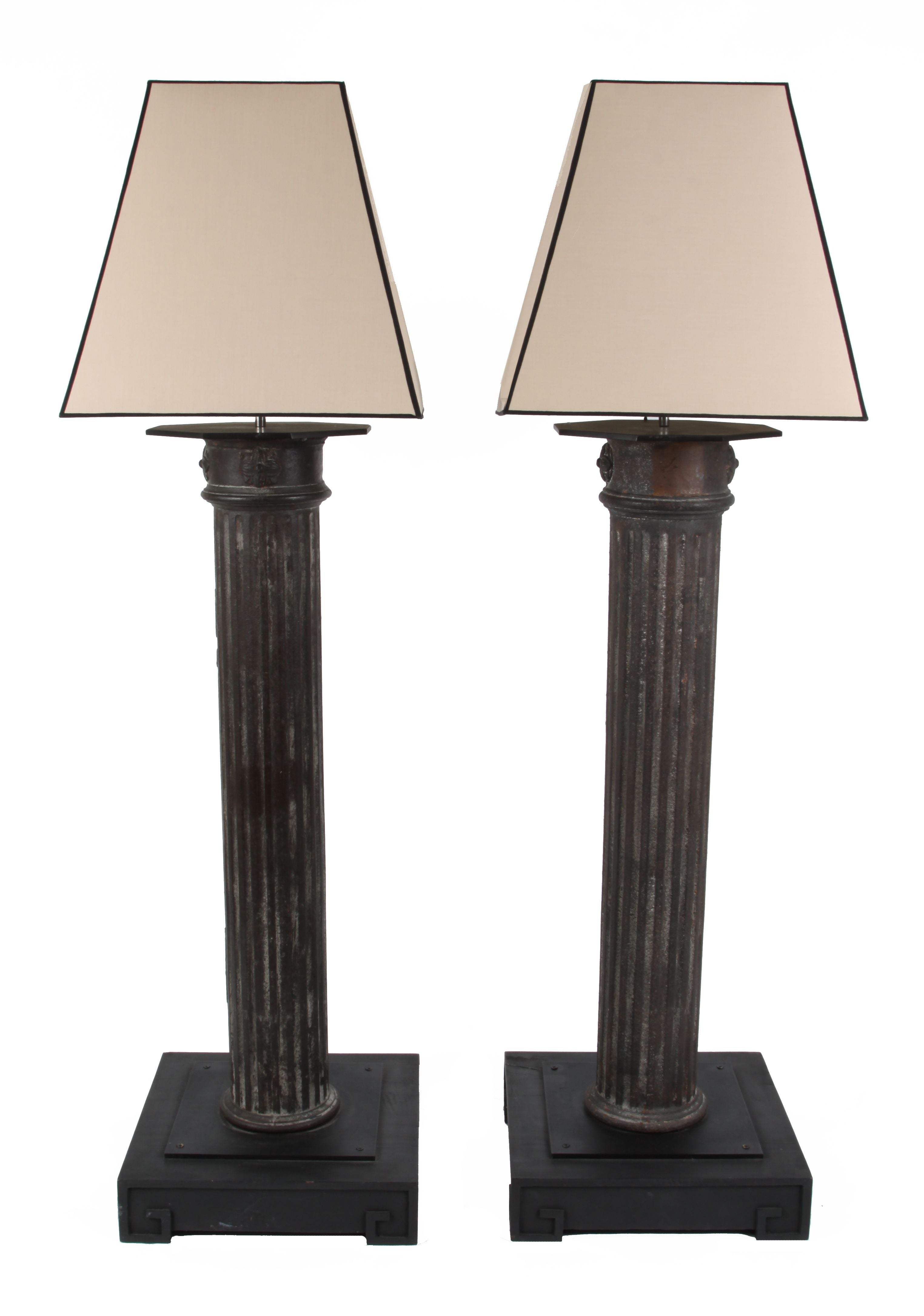 Antique French Lamp Post Floor Lamps A Pair Chairish