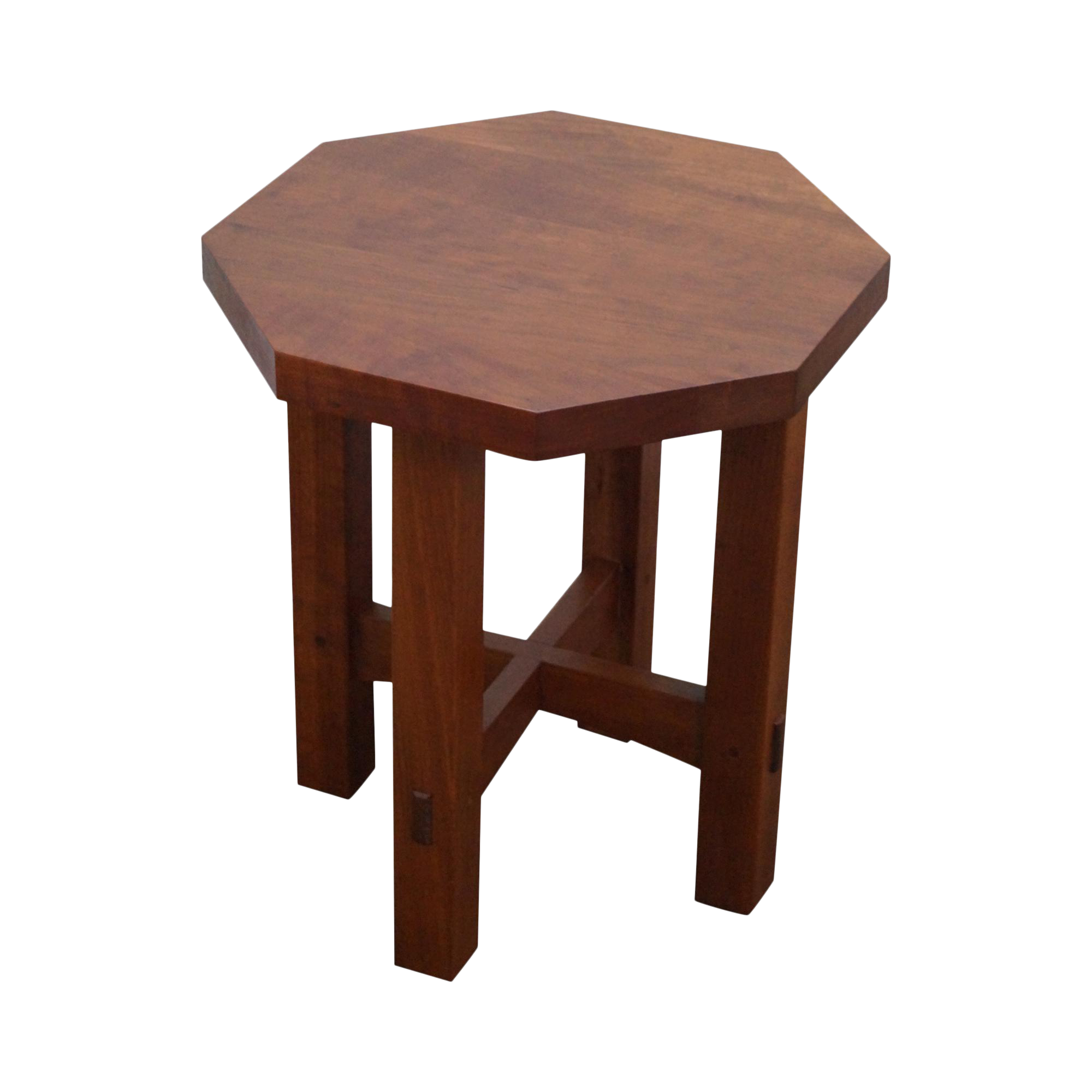 Stickley Mission Style Cherry Octagon Small Side Table Taboret