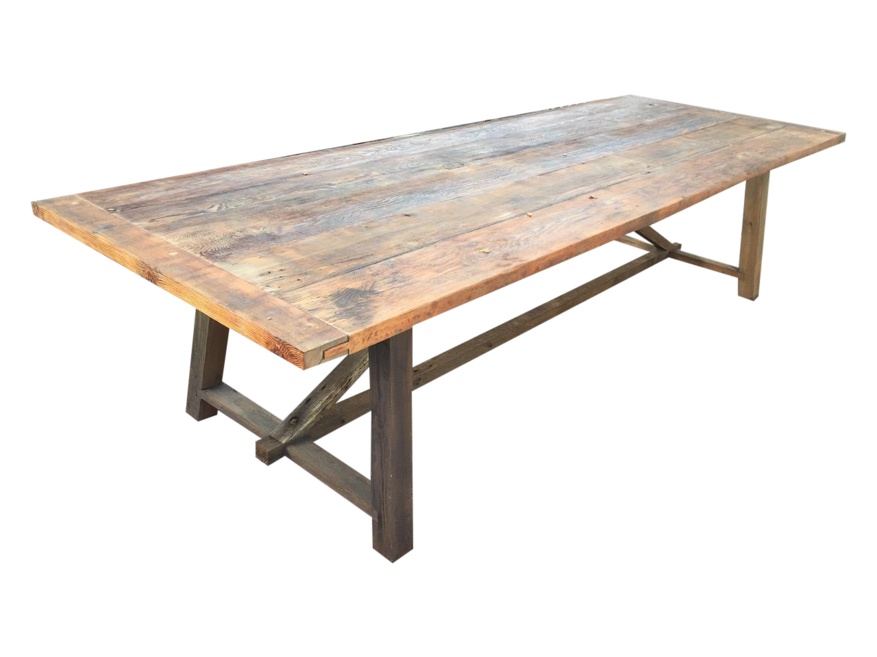Reclaimed Pine Table Pottery Barn - Reclaimed Outdoor Dining Table : Axiomatica.org