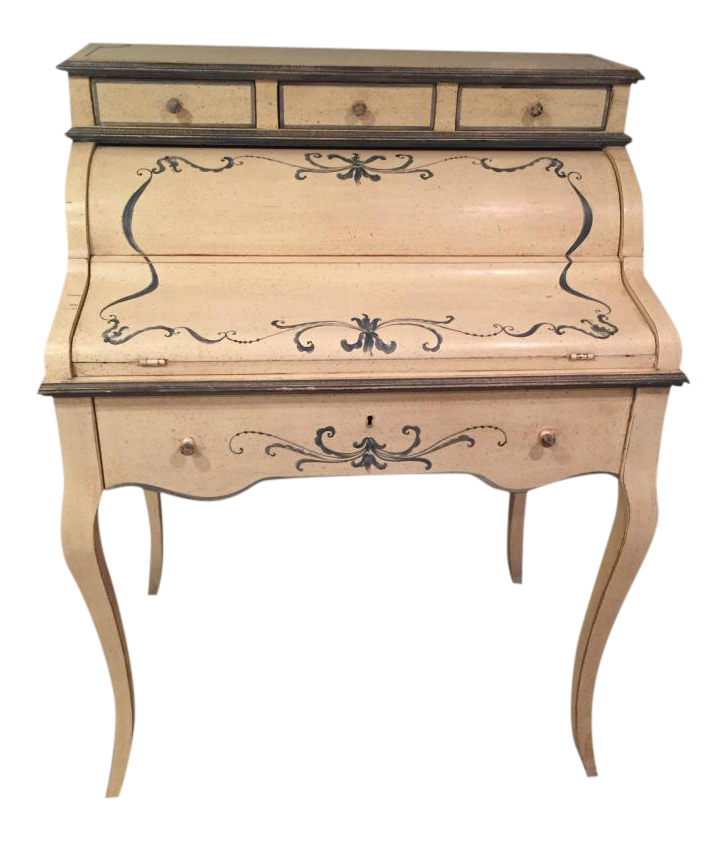 Antique Yellow Secretary Desk Chairish
