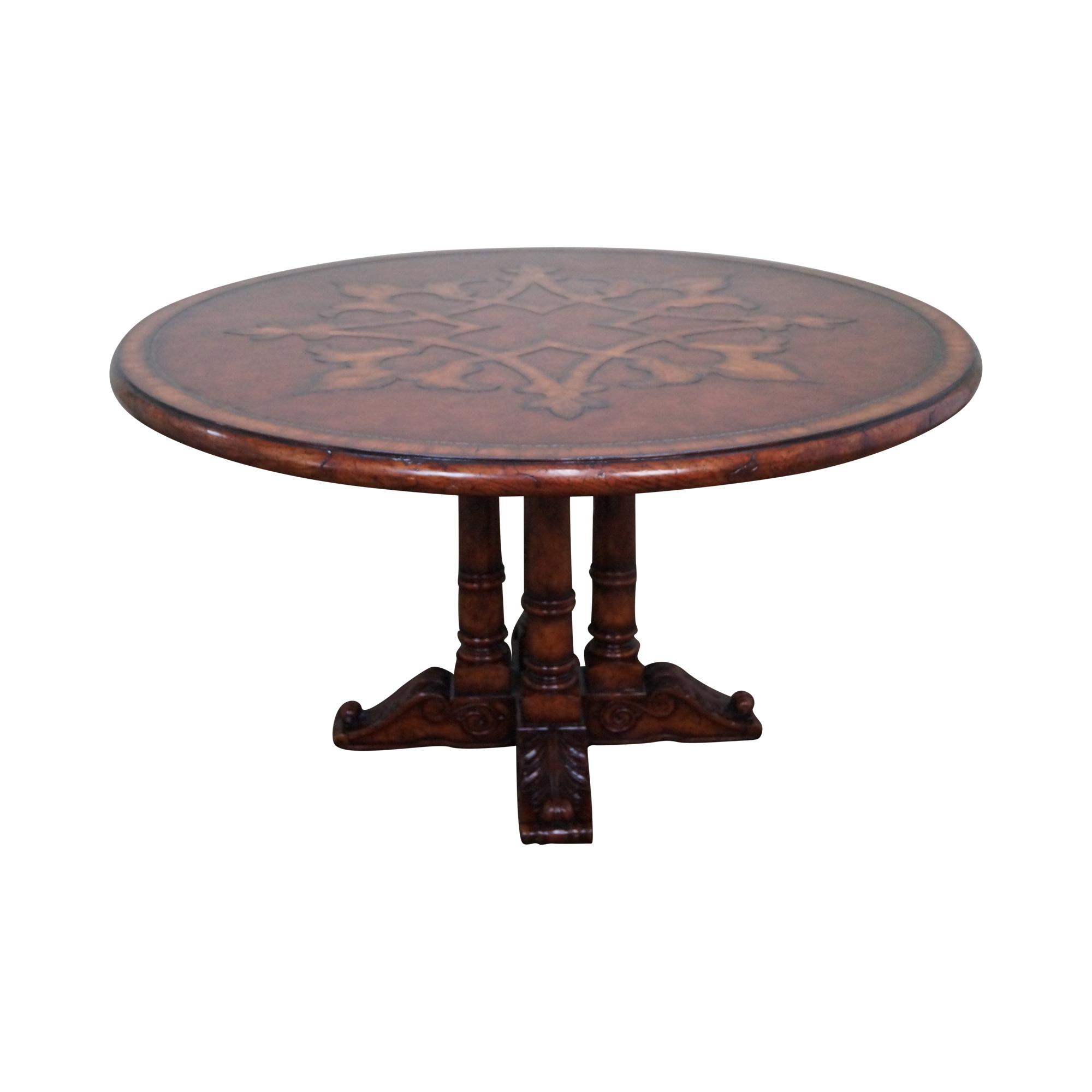Theodore Alexander Pedestal Base Dining Table Chairish
