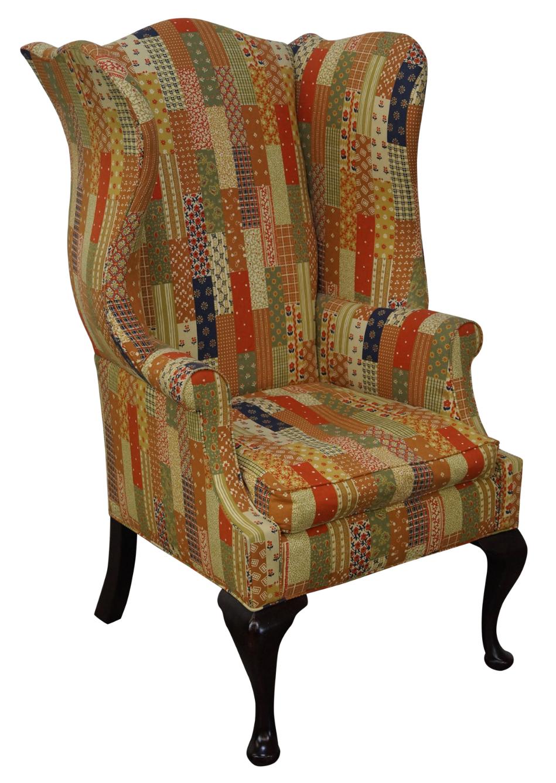 Polo Ralph Lauren Patchwork Wing Chair Chairish