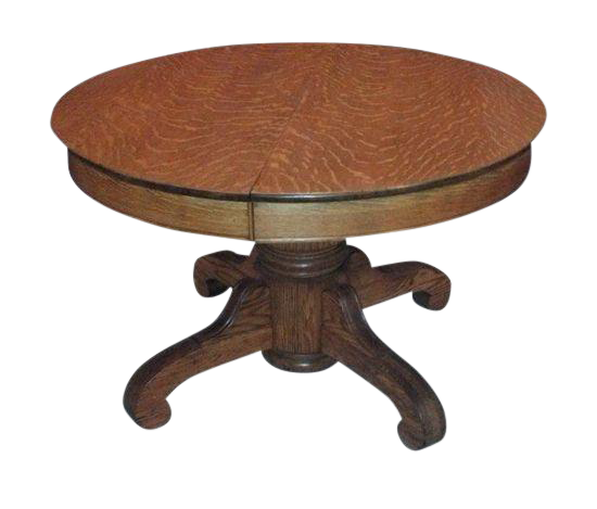 Antique Tiger Oak Pedestal Table Chairish
