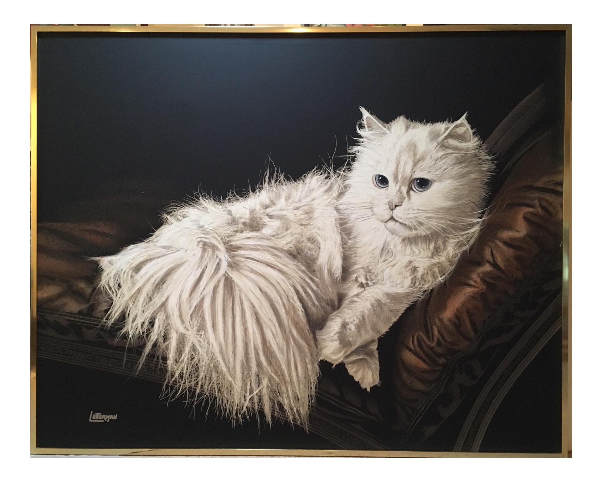 Antoinette Letterman Quot The Resting Cat Cashmere Quot Giclee