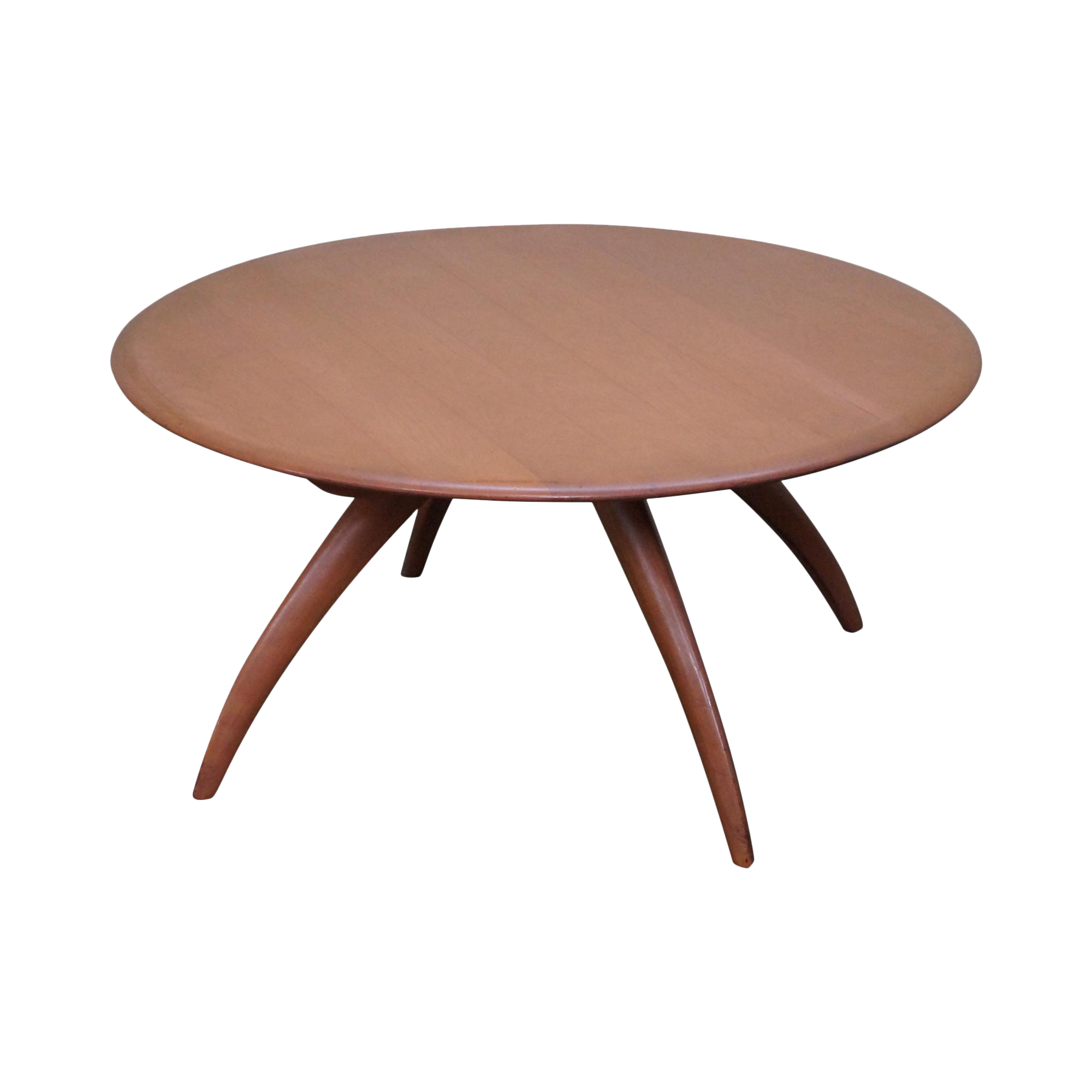 Heywood wakefield revolving maple coffee table chairish geotapseo Image collections