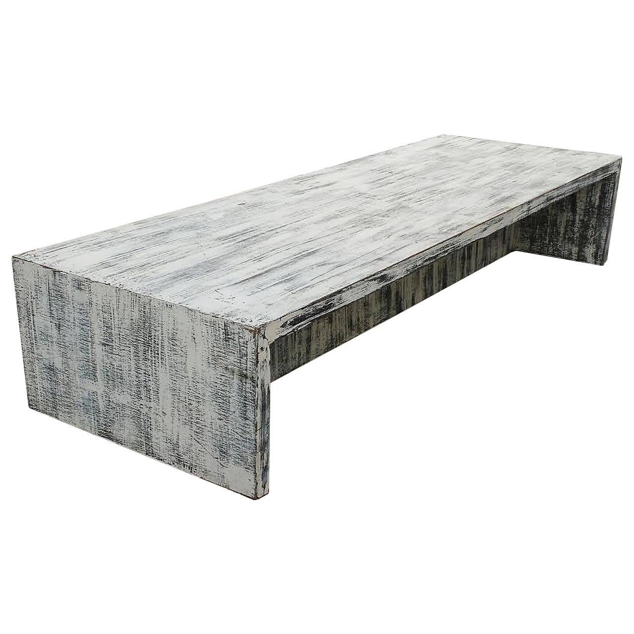distressed cabinets kitchen mid century distressed painted low coffee table chairish 3373