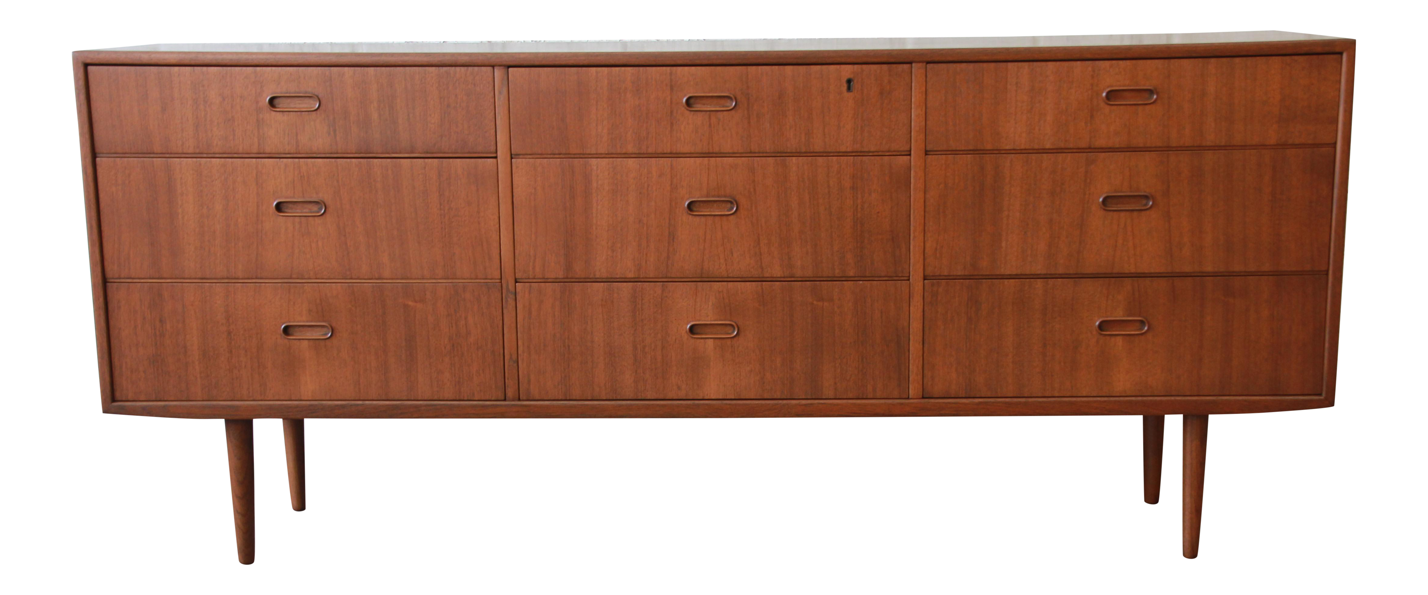 Arne Vodder for Falster Danish Modern Nine-Drawer Teak Long Dresser or  Credenza | Chairish