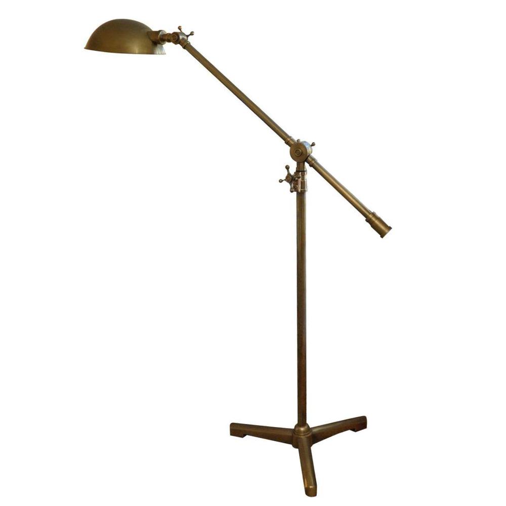 Restoration Hardware Rowan Brass Pharmacy Floor Lamp