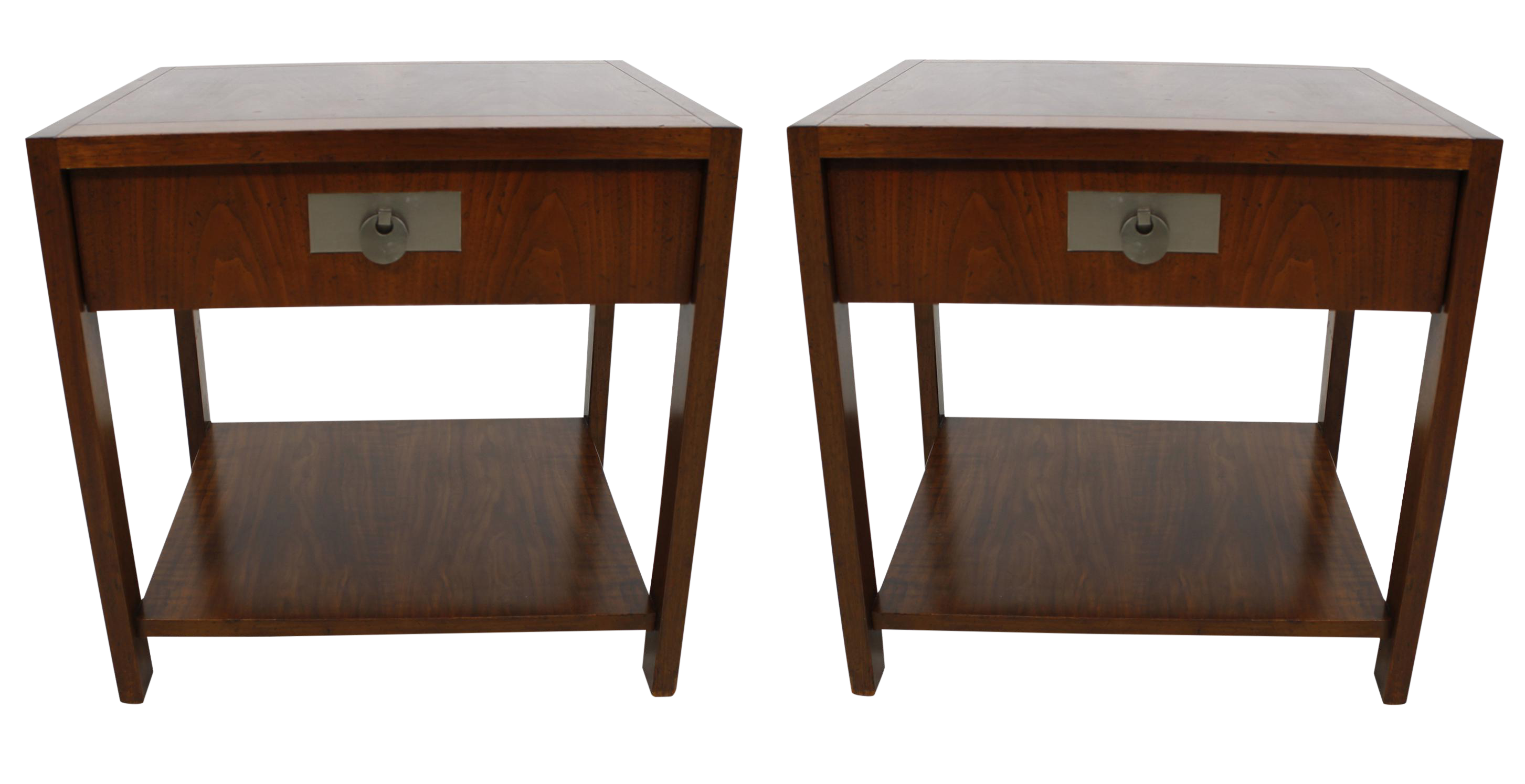 Michael taylor for baker walnut side tables a pair for Table 6 handbook 44