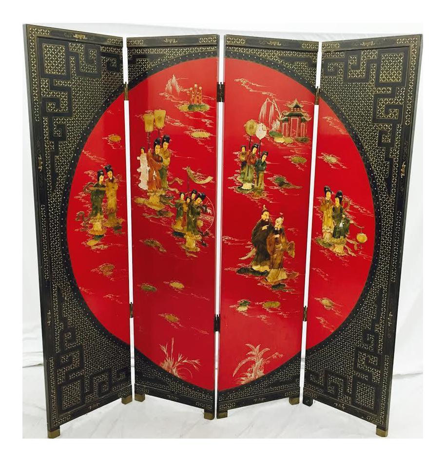 Vintage Asian Room Divider Screen Chairish