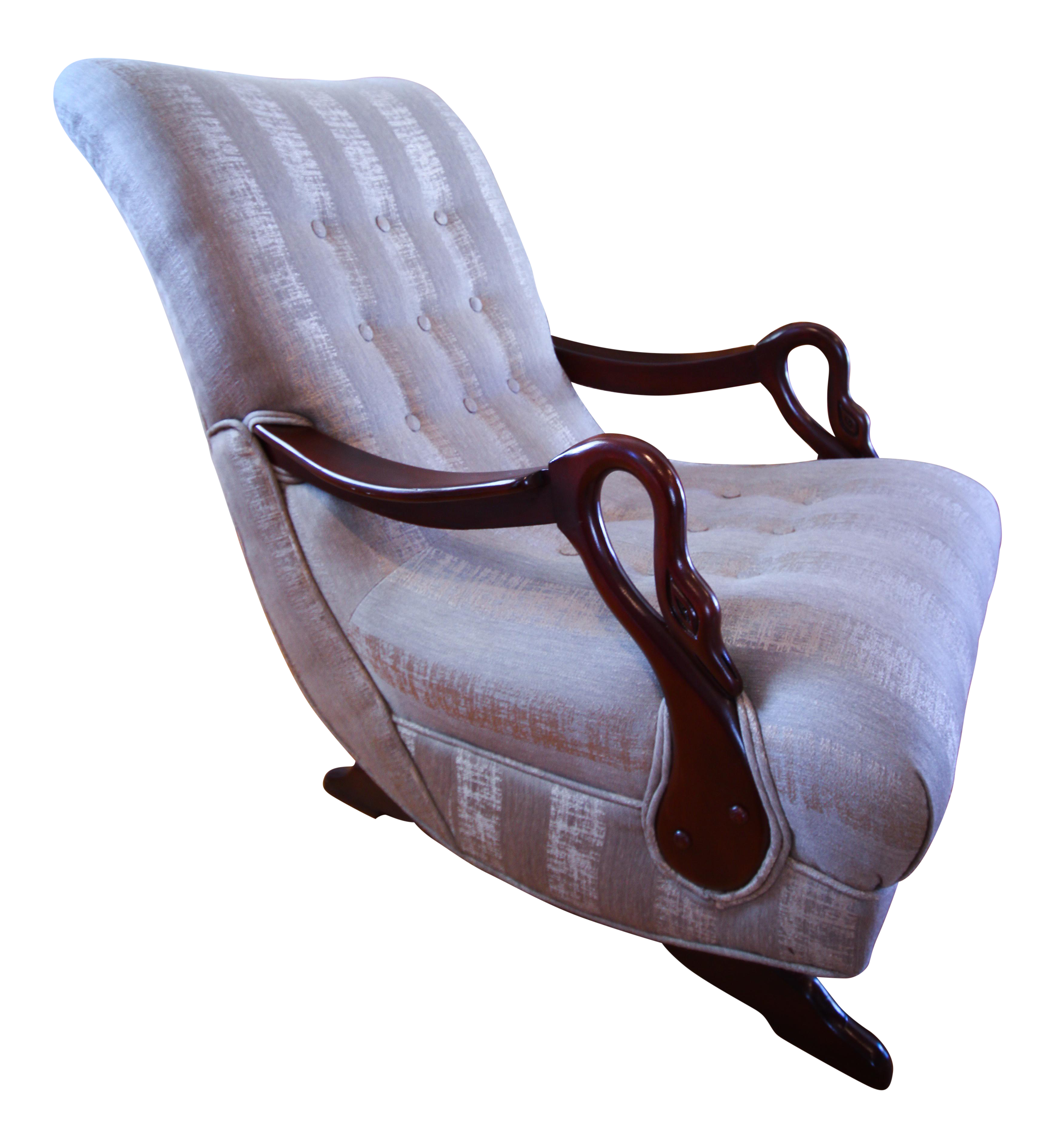 Antique 1930s Swan ArmGooseneck Rocking Chair Chairish