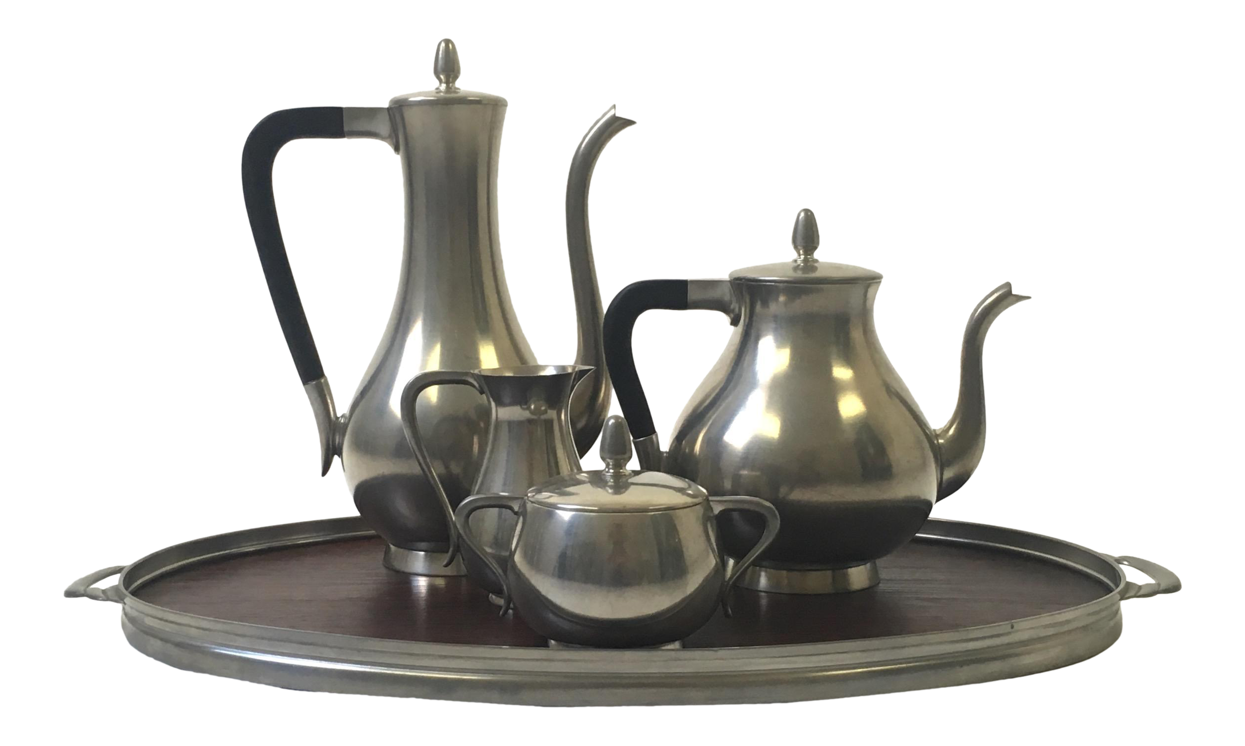 Royal Holland Pewter Coffee Tea Set With Tray Chairish