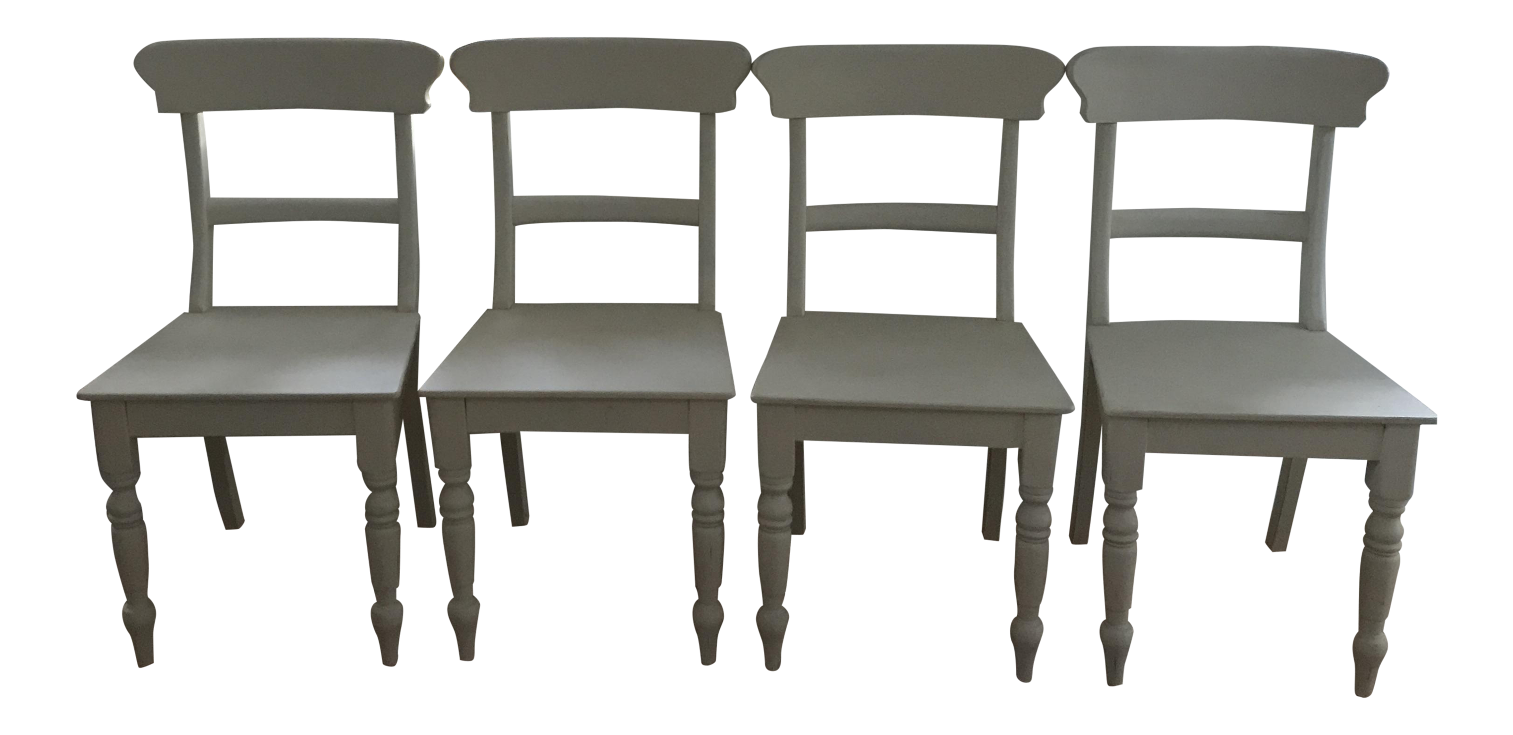 restoration hardware white dining chairs set of 4 chairish. Black Bedroom Furniture Sets. Home Design Ideas