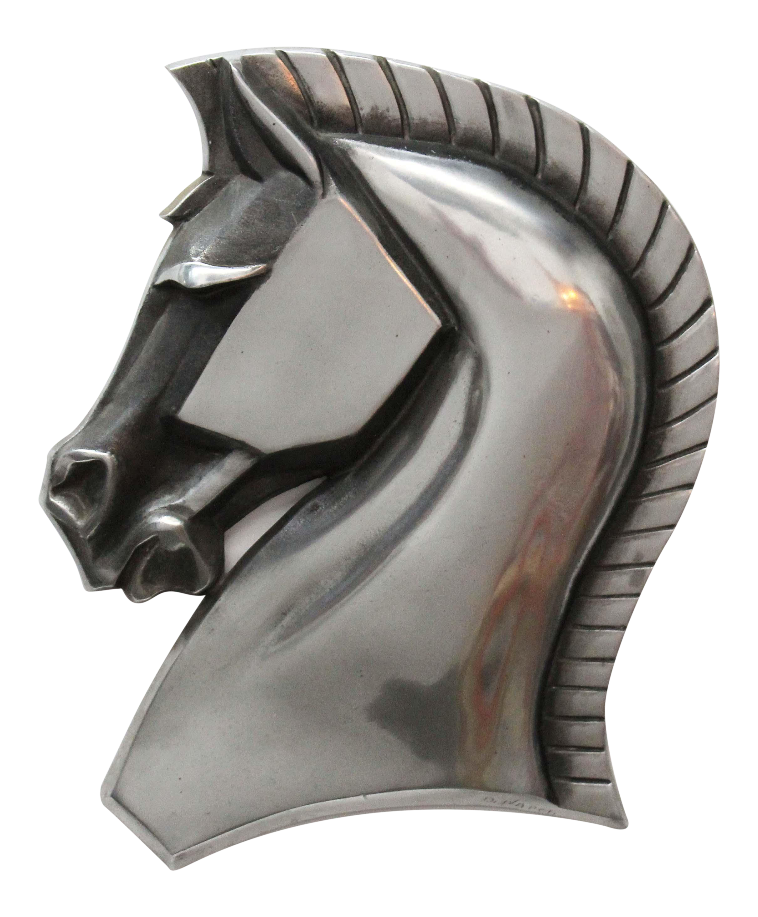 Art Deco Horse Head Metal Wall Hanging Chairish