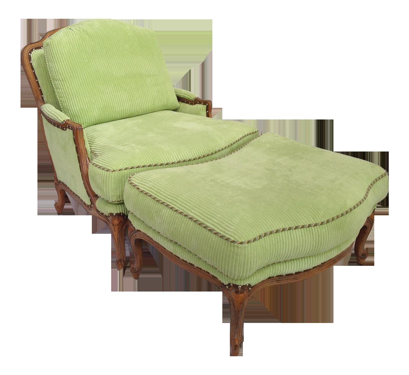 Bergere chair and ottoman - Bergere Chair And Ottoman 1