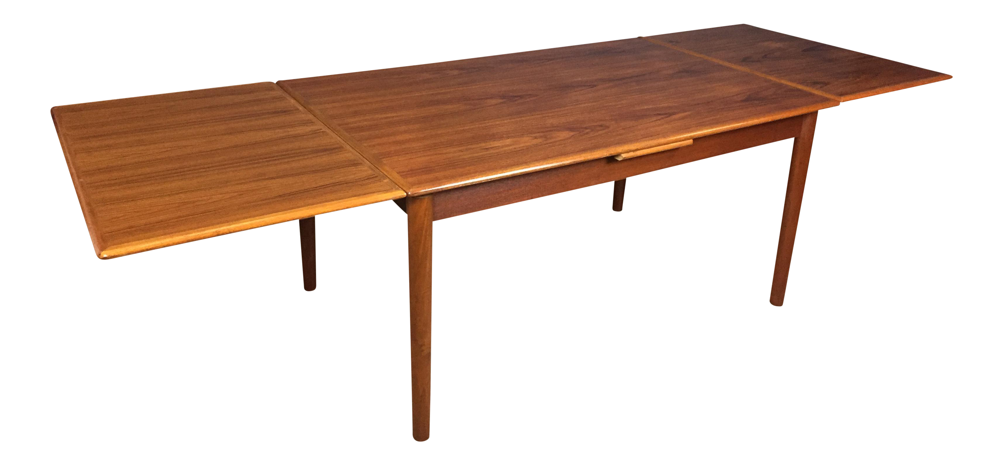 Ansager mobler danish modern teak dining table chairish - Modern dining room table png ...