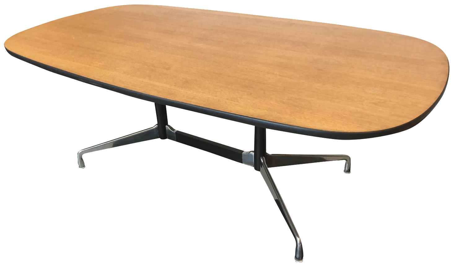 herman miller eames table chairish. Black Bedroom Furniture Sets. Home Design Ideas