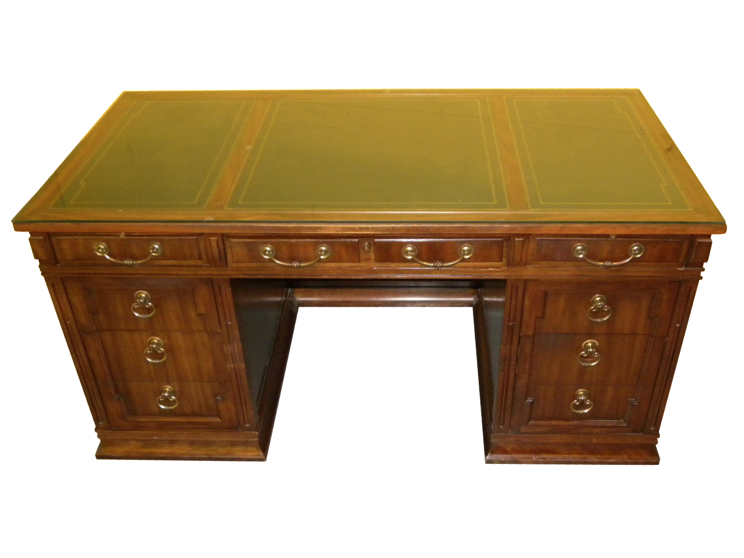 Leather Top Mahogany Desk By Sligh Furniture Chairish