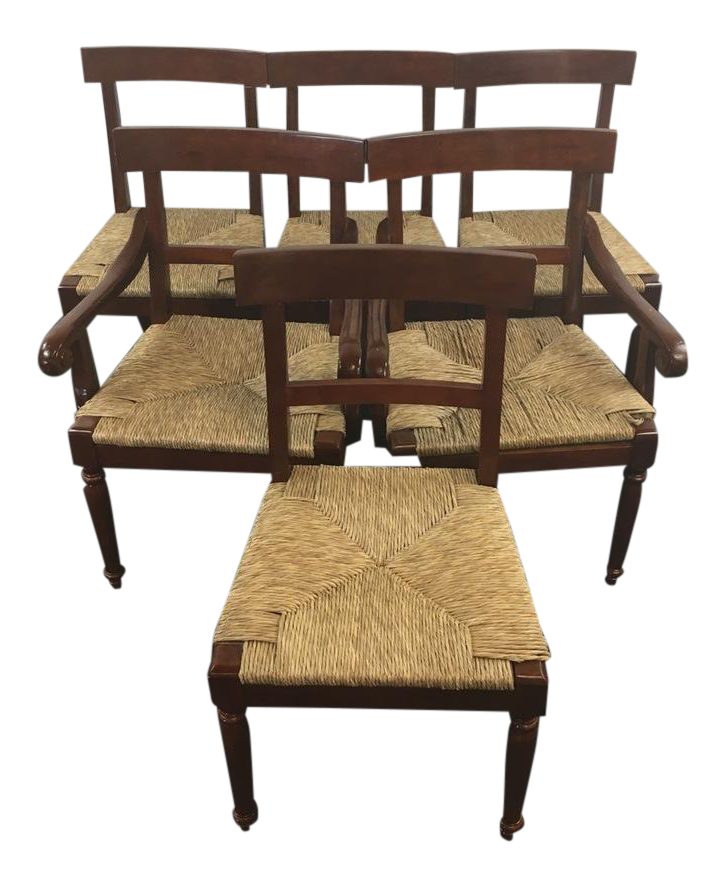 Mahogany Outdoor Rocking Chairs : vintage carved mahogany and rush seat dining chairs set of 6 9526 from chairs52.com size 726 x 887 png 590kB