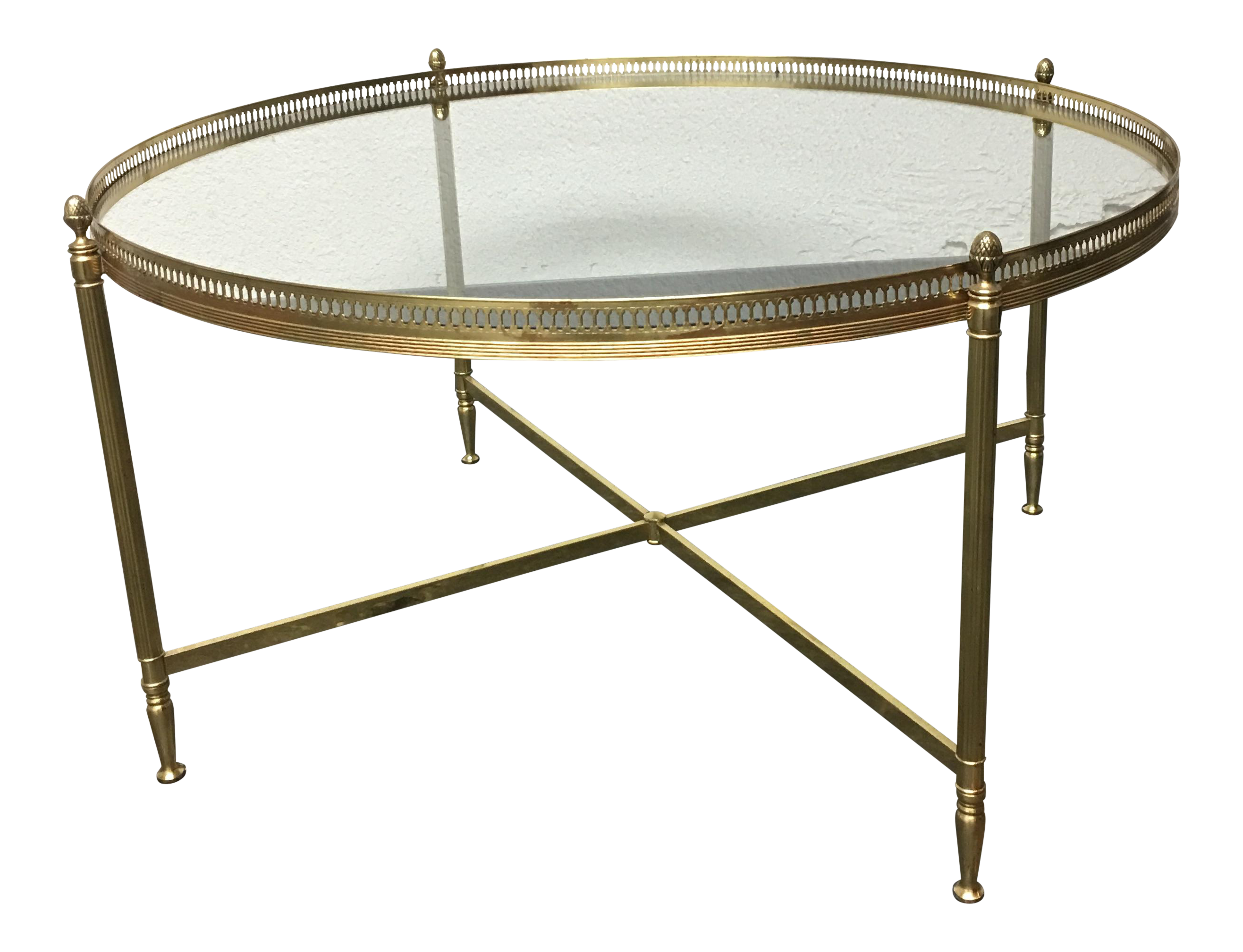 Vintage Gold Coffee Table With Glass Top Chairish