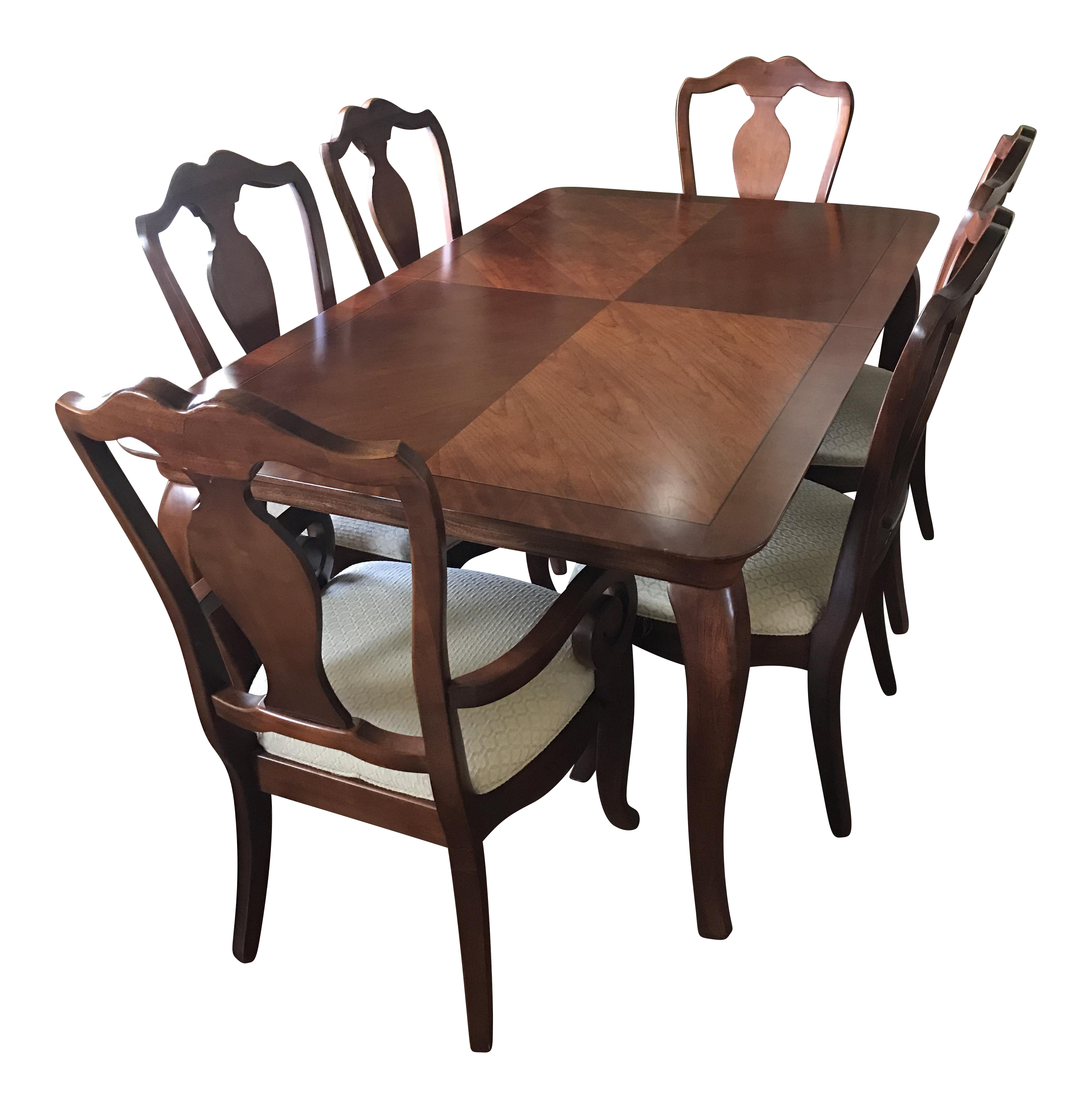 Thomasville Dining Table & Chairs W Leaves