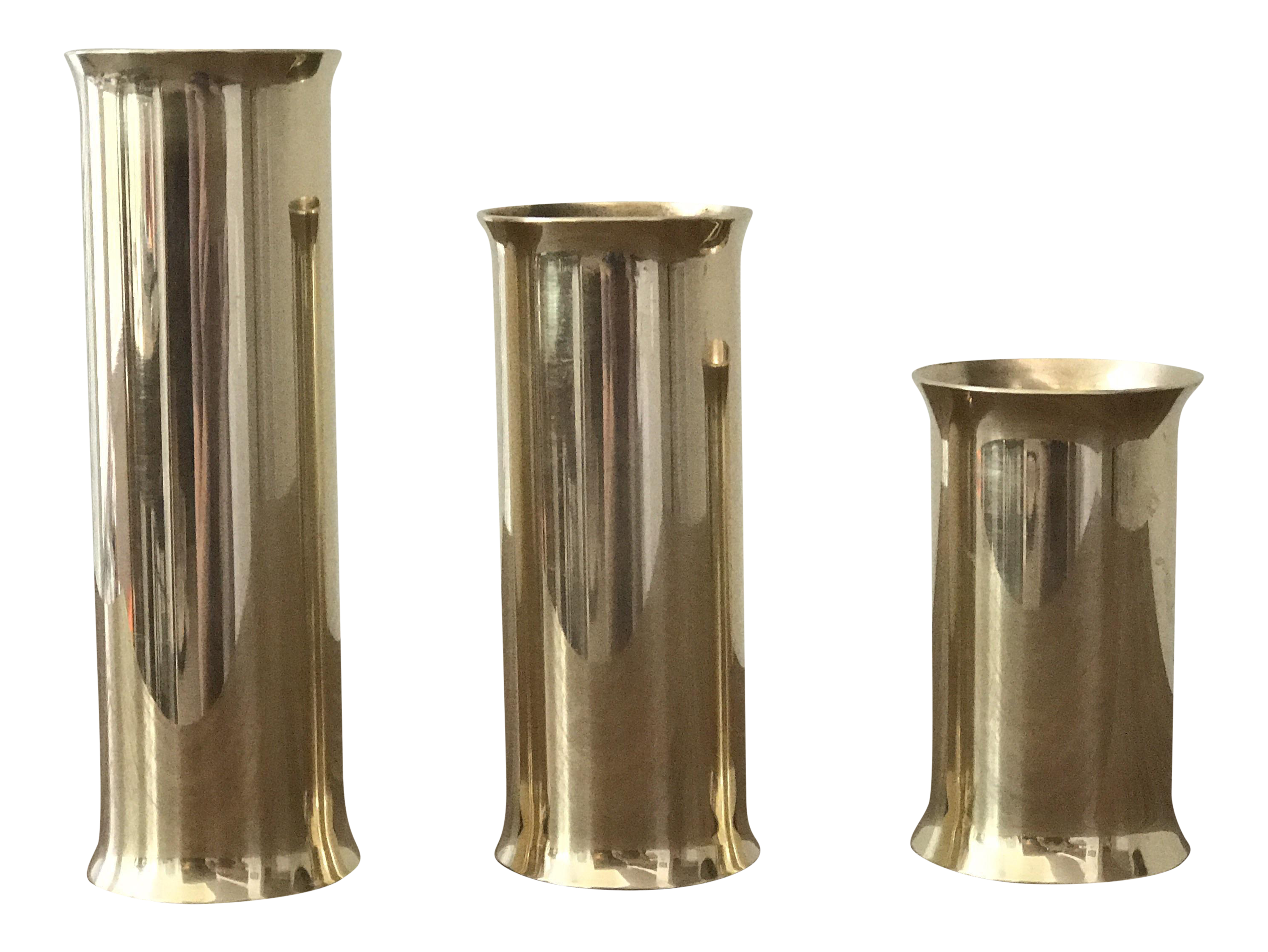 danish modern mid century brass candle holders set of 3 With kitchen cabinets lowes with mid century candle holder