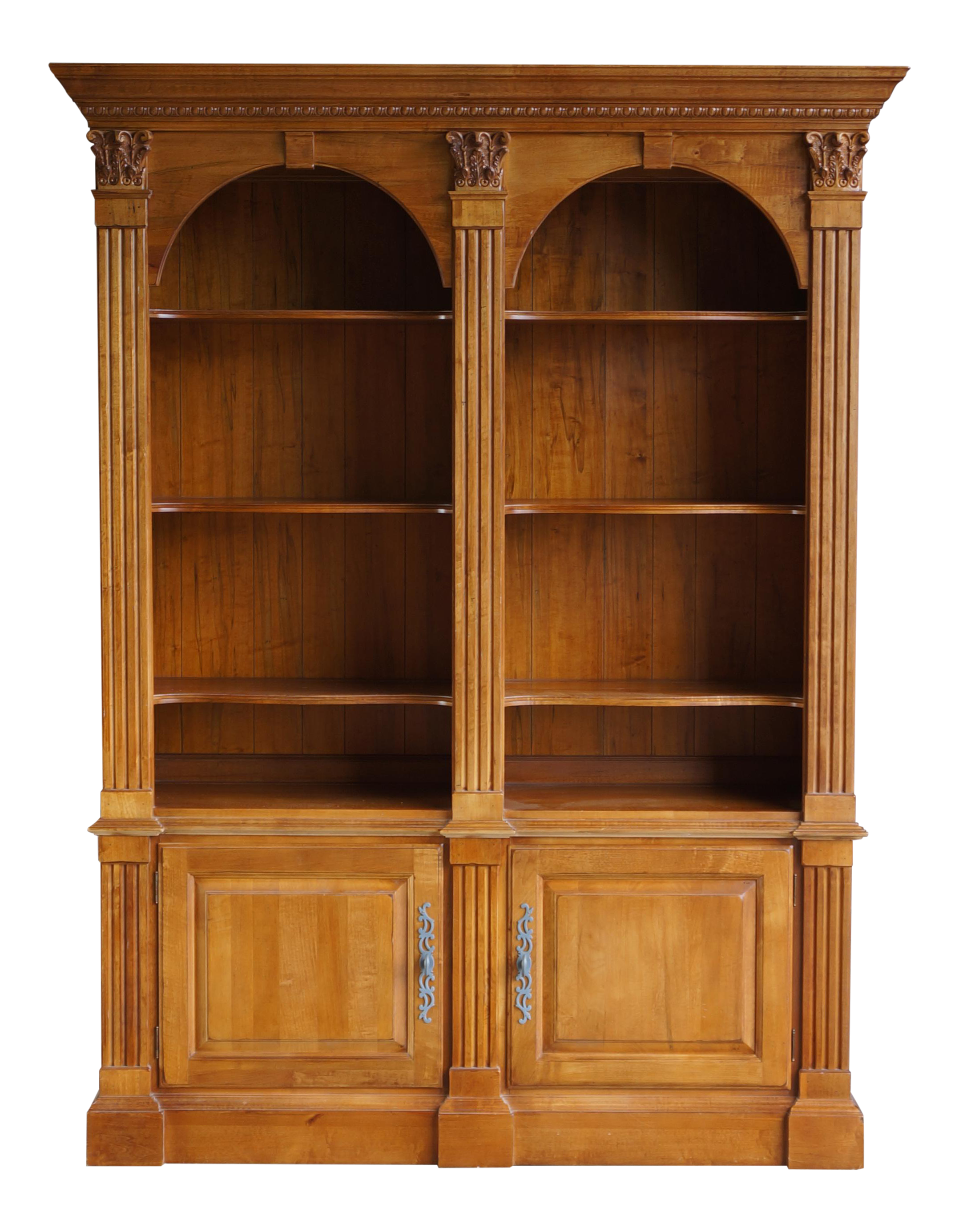 ethan allen legacy double arch library bookcase cabinet chairish